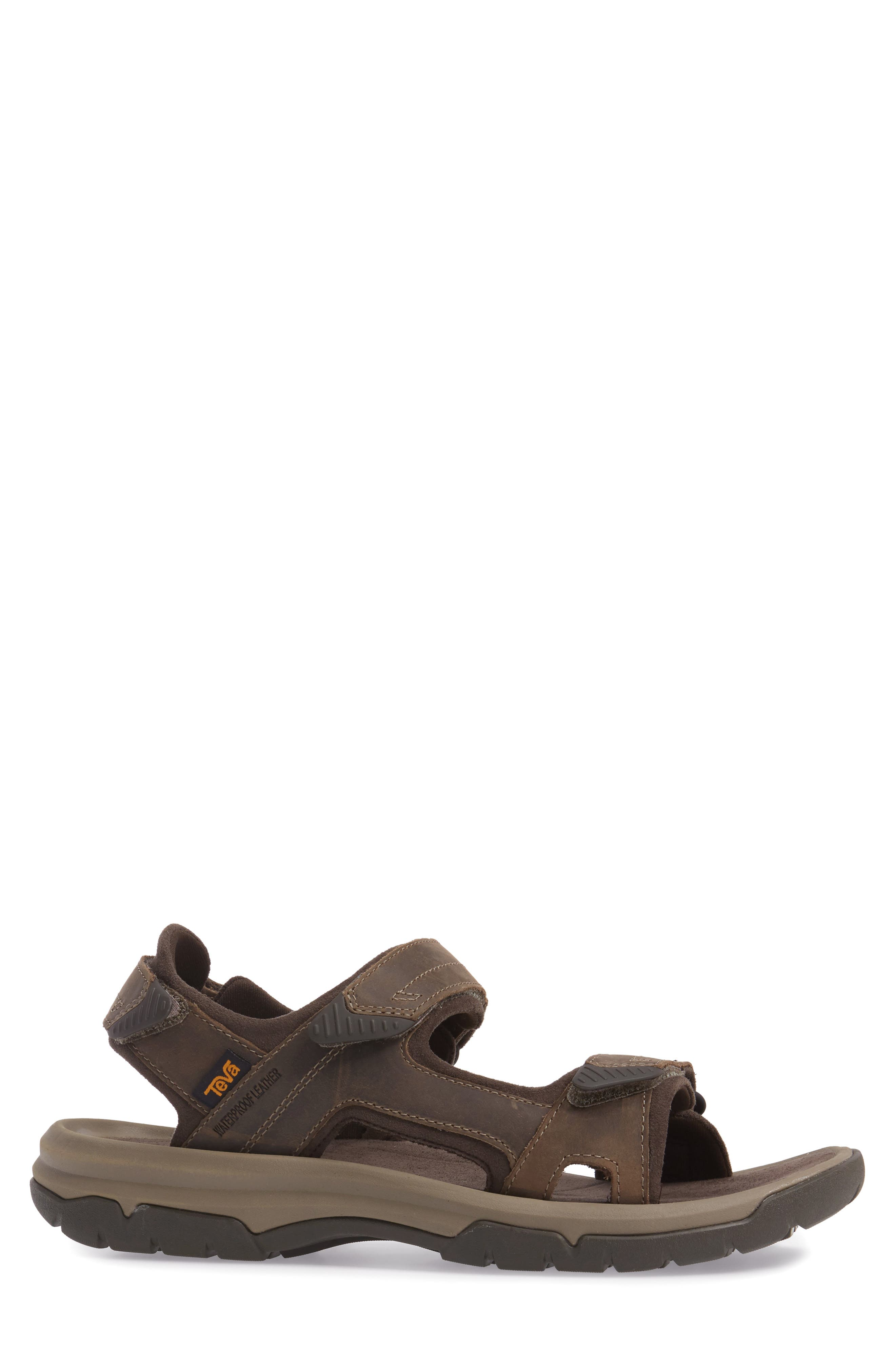 Langdon Sandal,                             Alternate thumbnail 3, color,                             Walnut