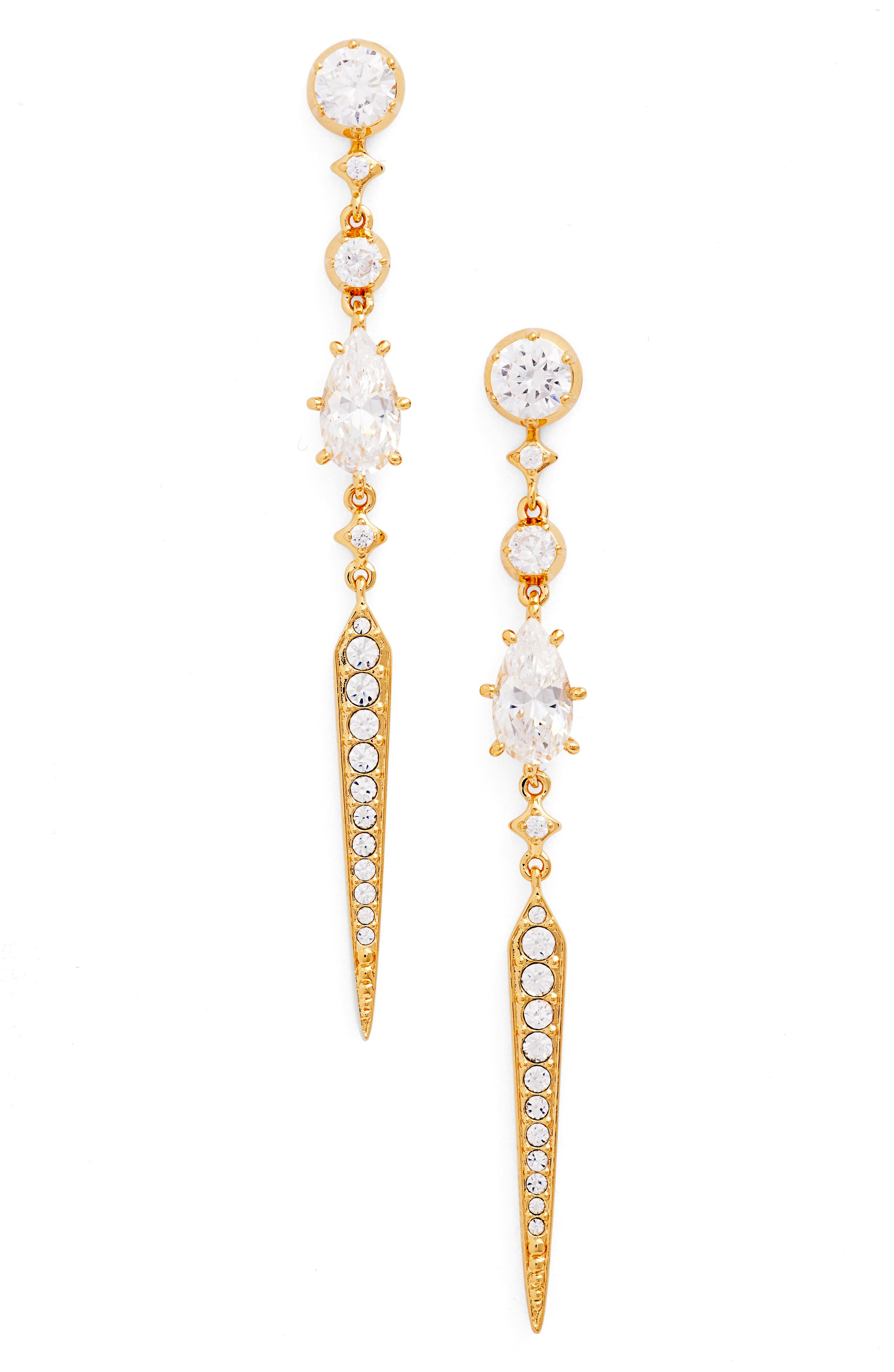 Dame Statement Earrings,                         Main,                         color, Gold