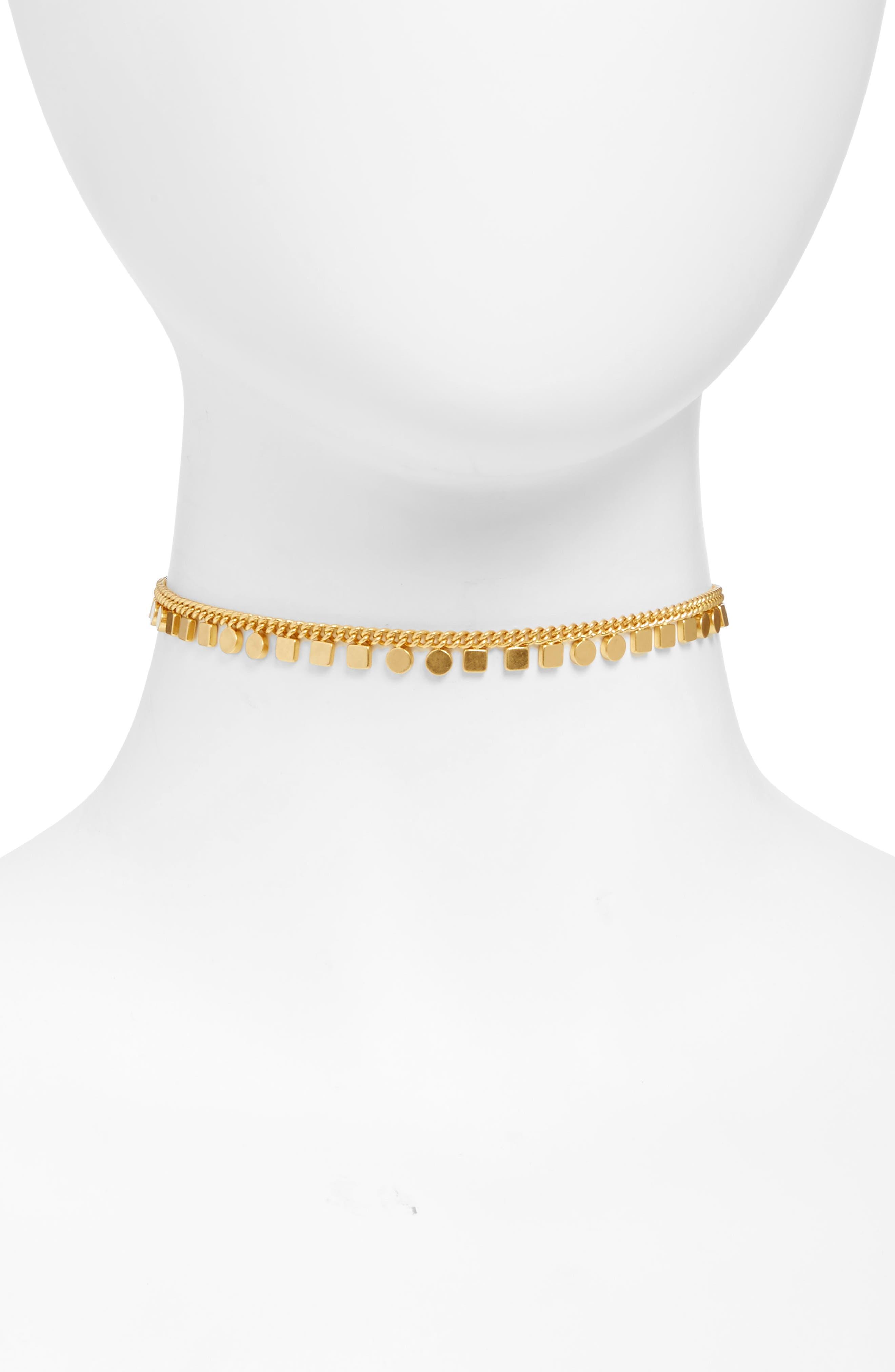 Geochain Choker,                         Main,                         color, Vintage Gold