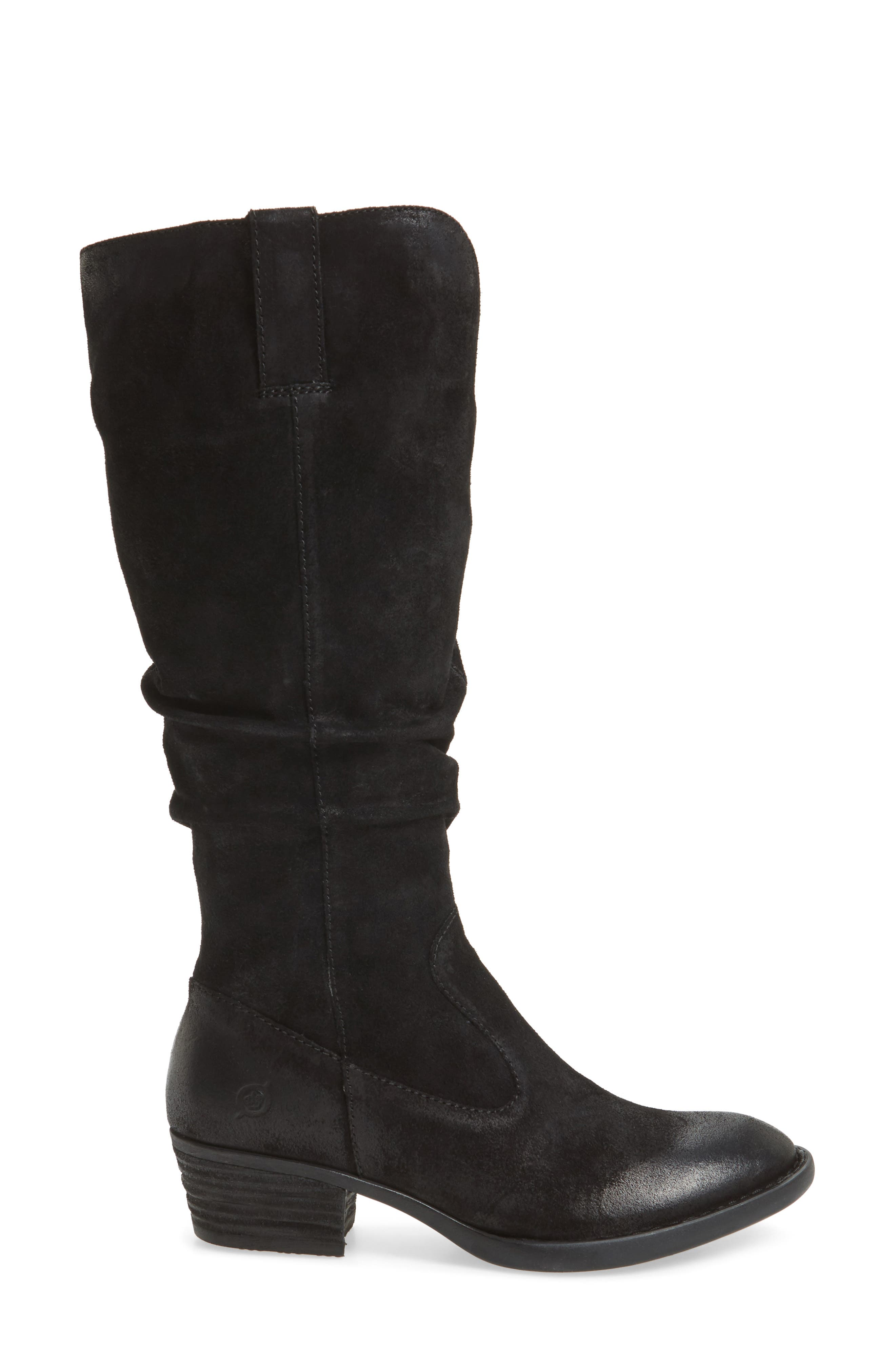 Barren Boot,                             Alternate thumbnail 3, color,                             Black Distressed Leather