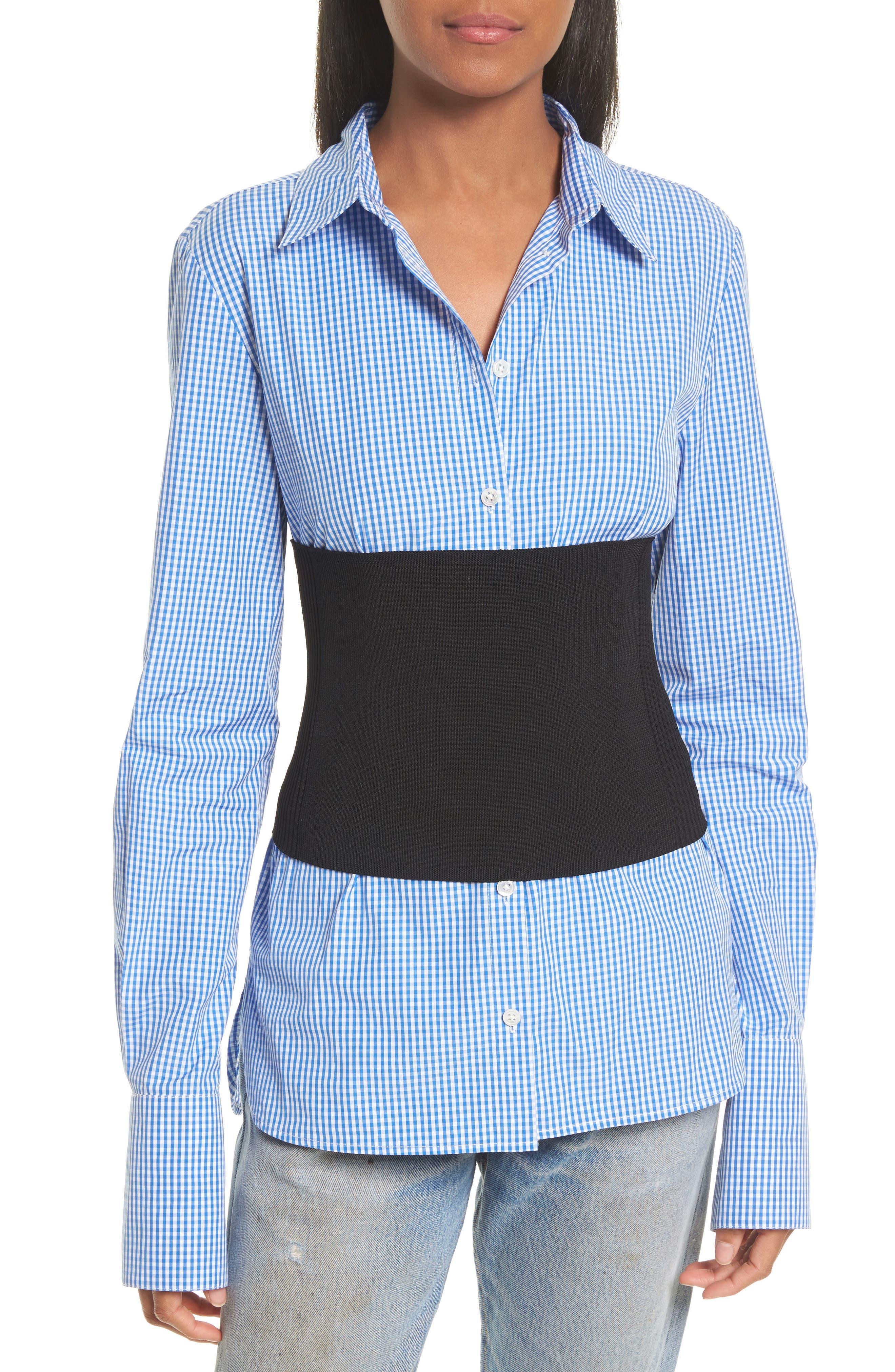 Rib Knit Tube Corset,                         Main,                         color, Black