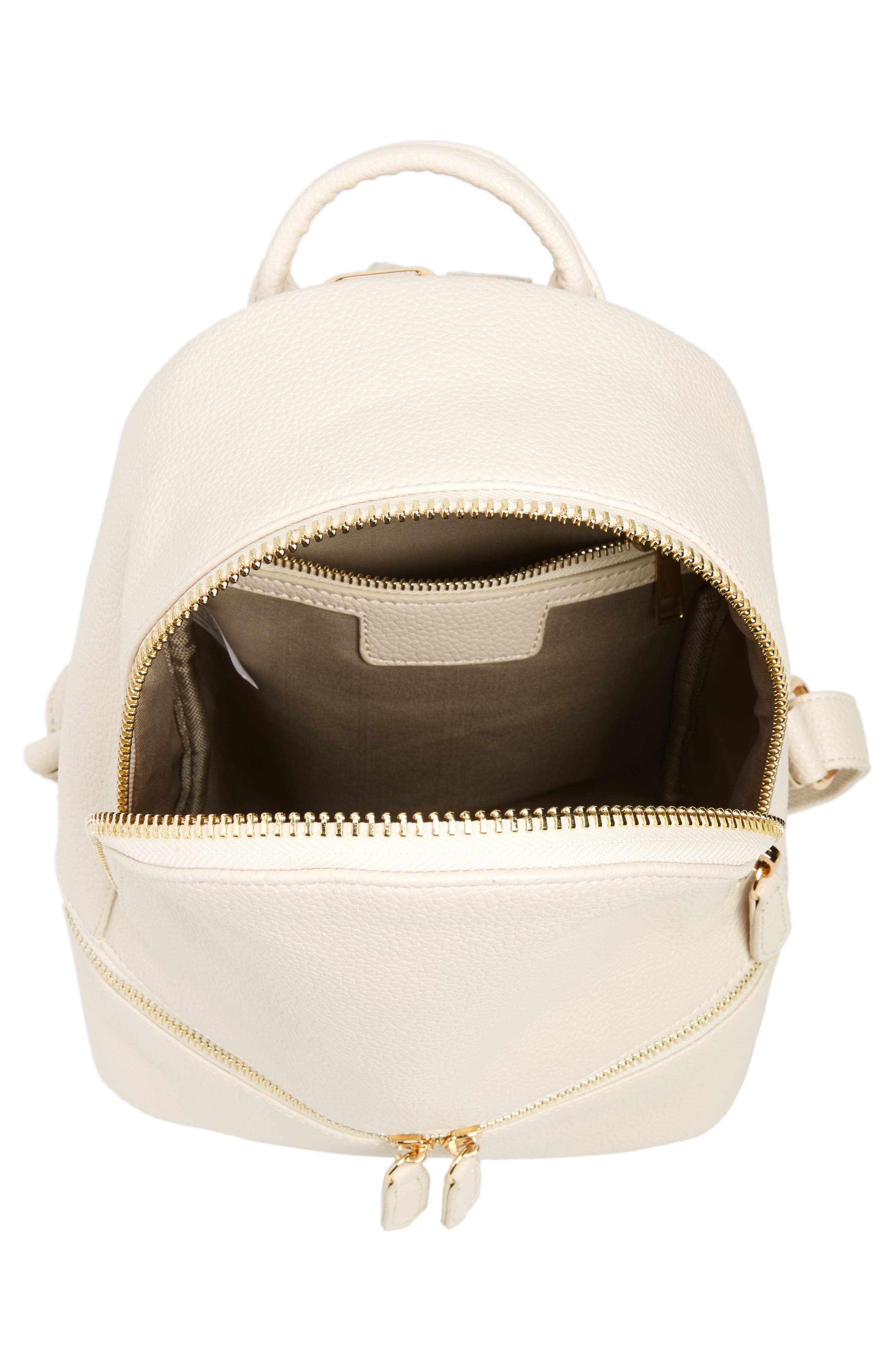 Alternate Image 4  - Girly Faux Leather Mini Zip Backpack
