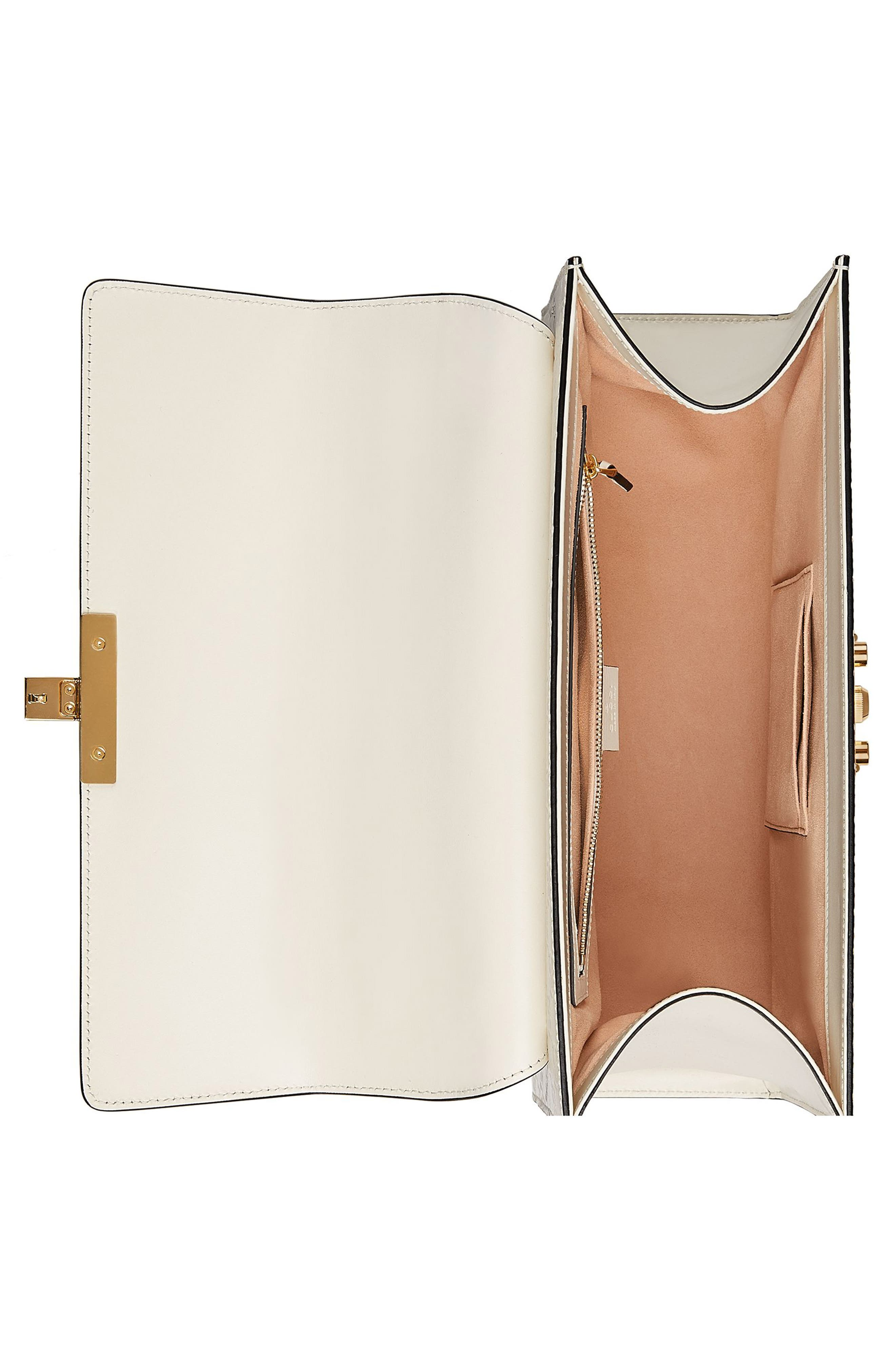 Alternate Image 3  - Gucci Medium Padlock Top Handles Signature Leather Satchel