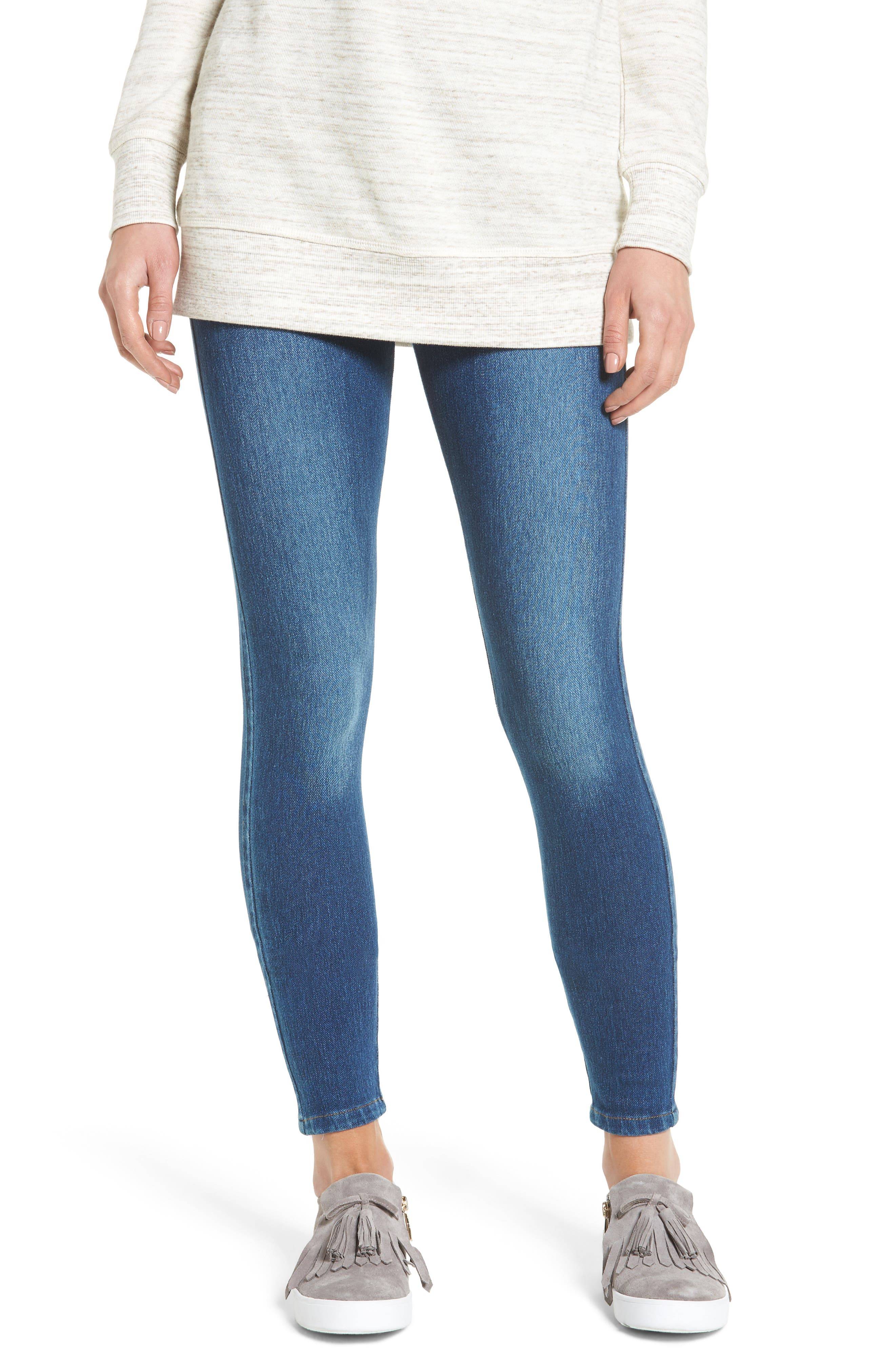 Lyssè Toothpick High Rise Denim Leggings