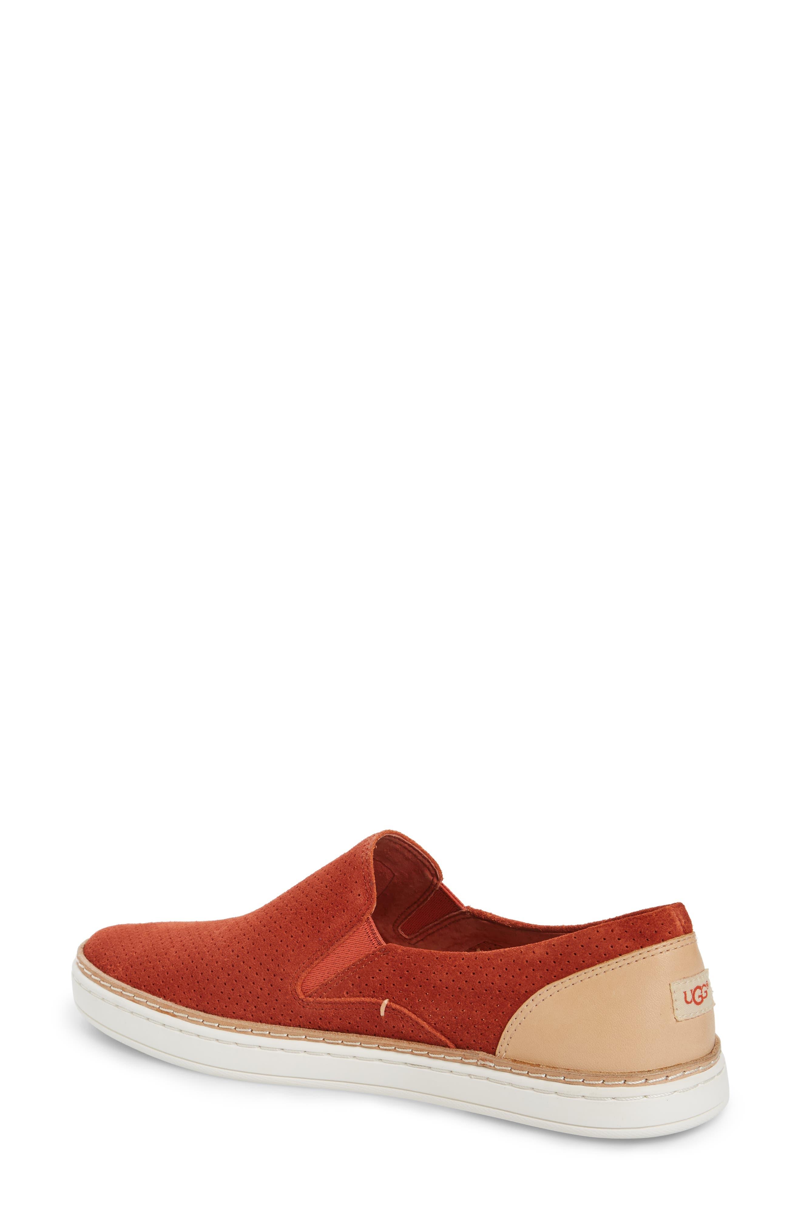 Adley Slip-On Sneaker,                             Alternate thumbnail 2, color,                             Paprika Suede