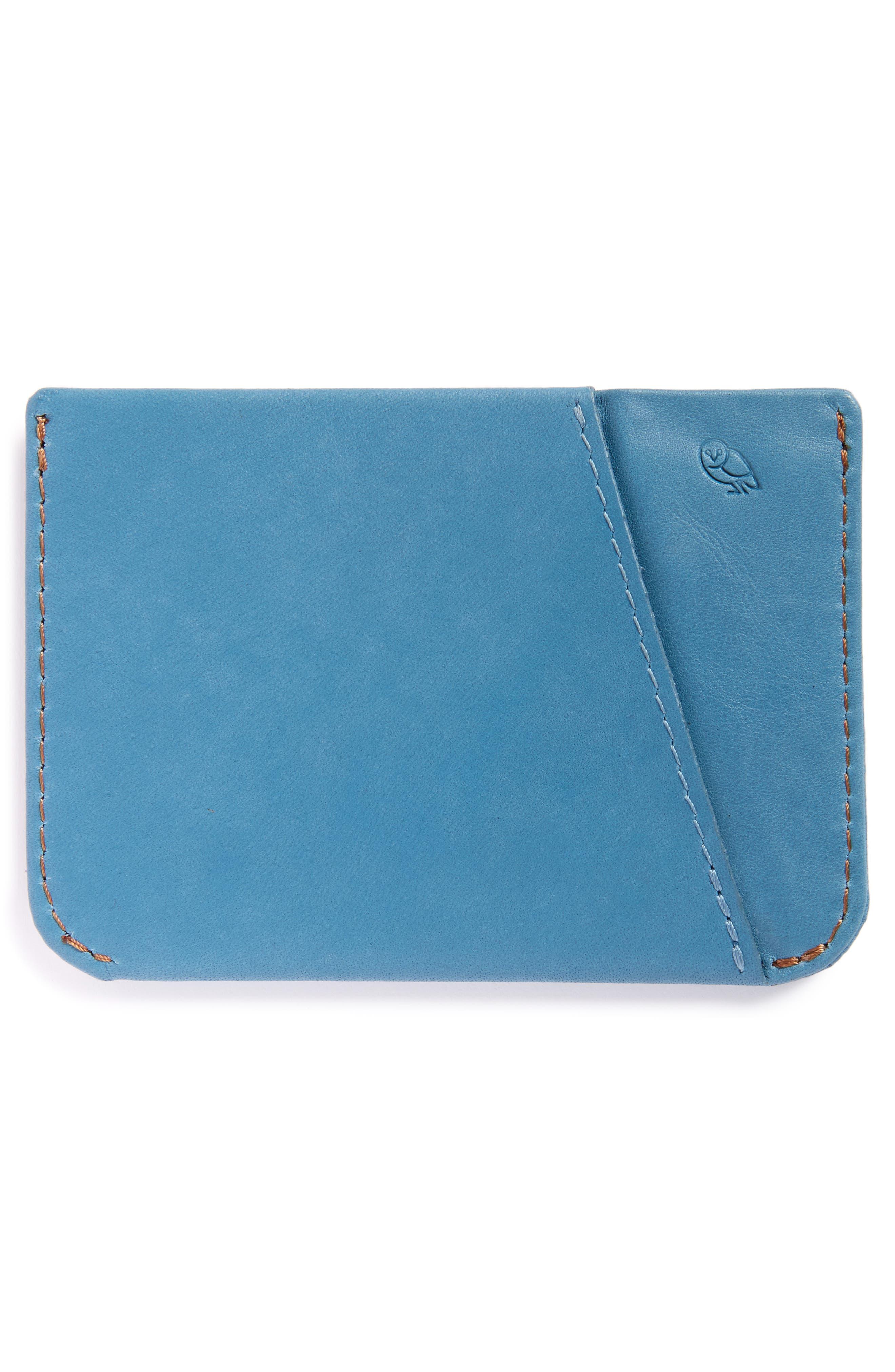 Micro Sleeve Card Case,                             Alternate thumbnail 2, color,                             Arctic Blue