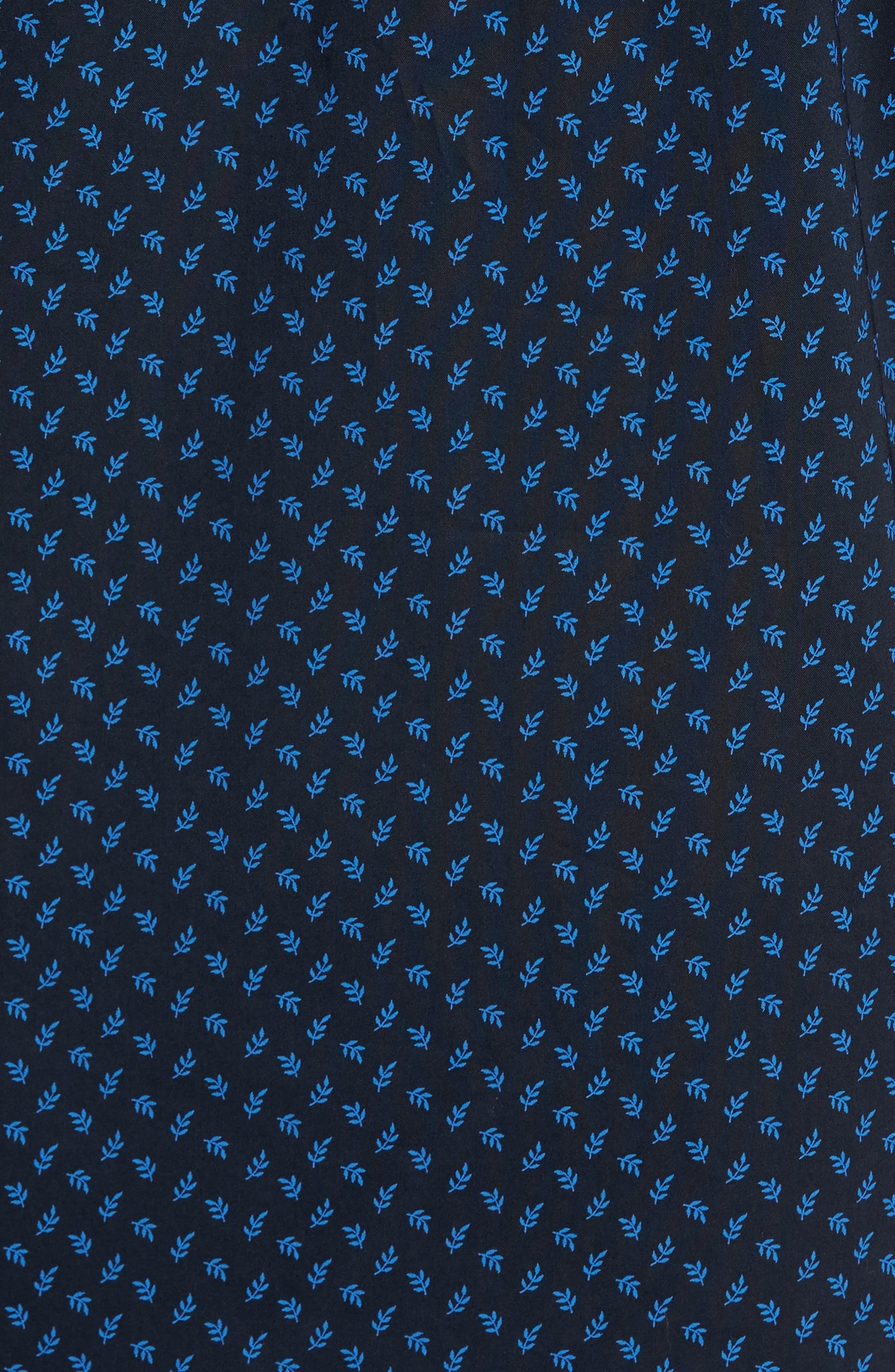 Print Short Sleeve Sport Shirt,                             Alternate thumbnail 5, color,                             Navy