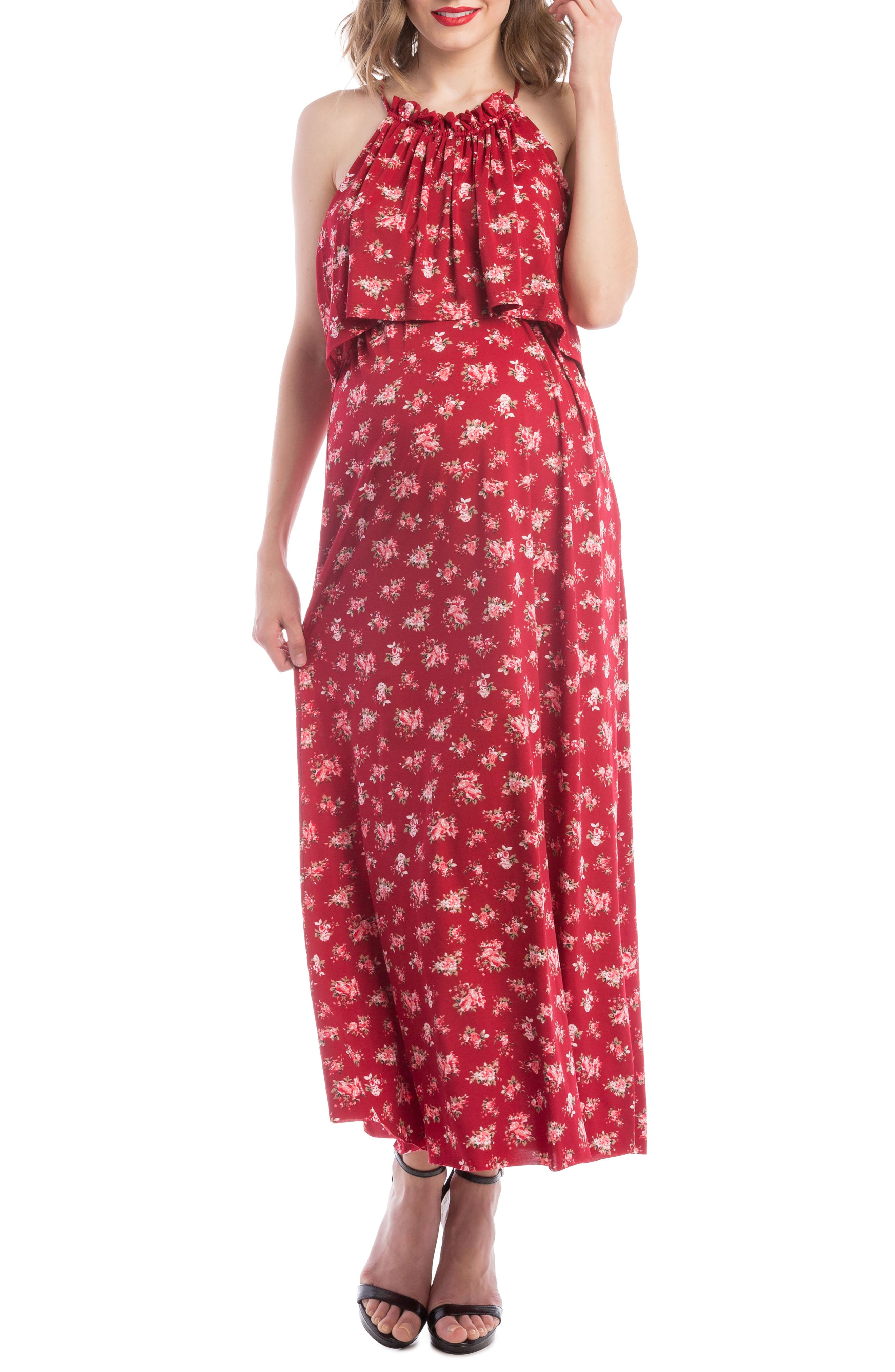 Lilac Clothing Maternity/Nursing Maxi Dress