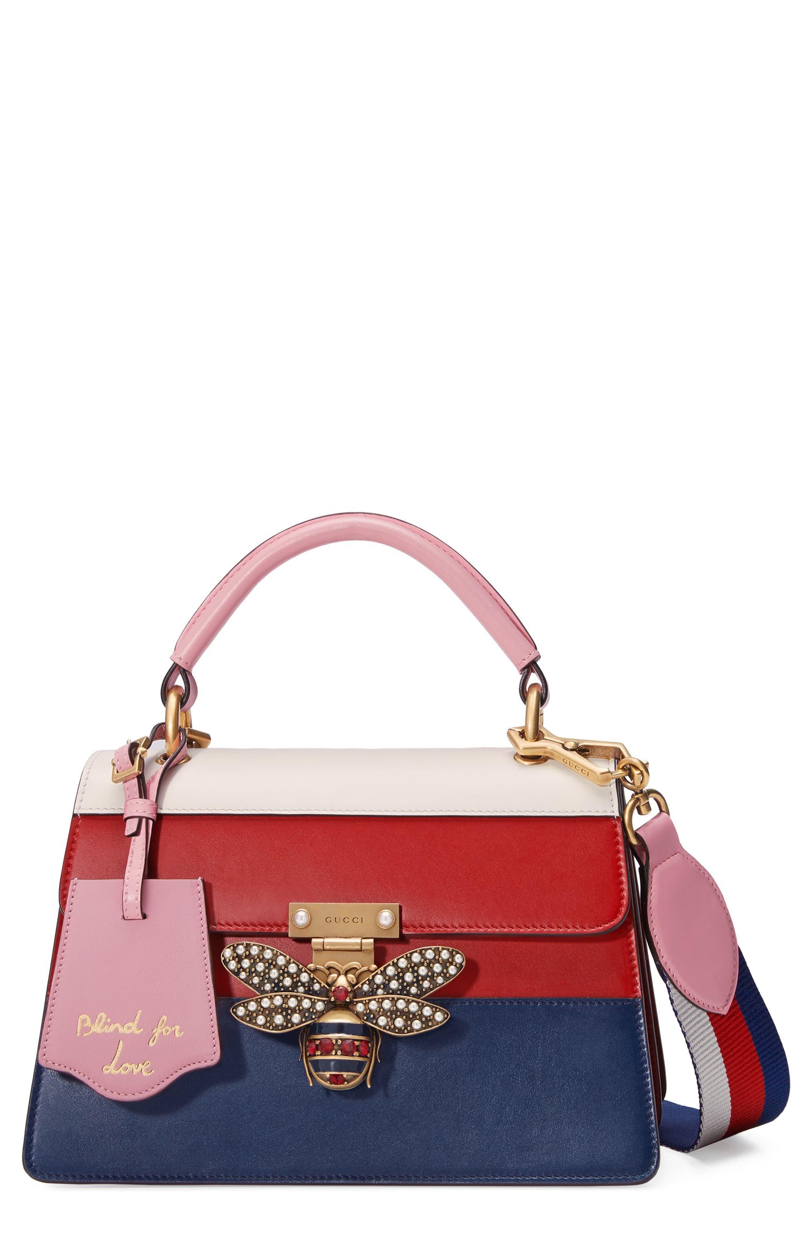 Alternate Image 1 Selected - Gucci Queen Margaret Top Handle Leather Satchel