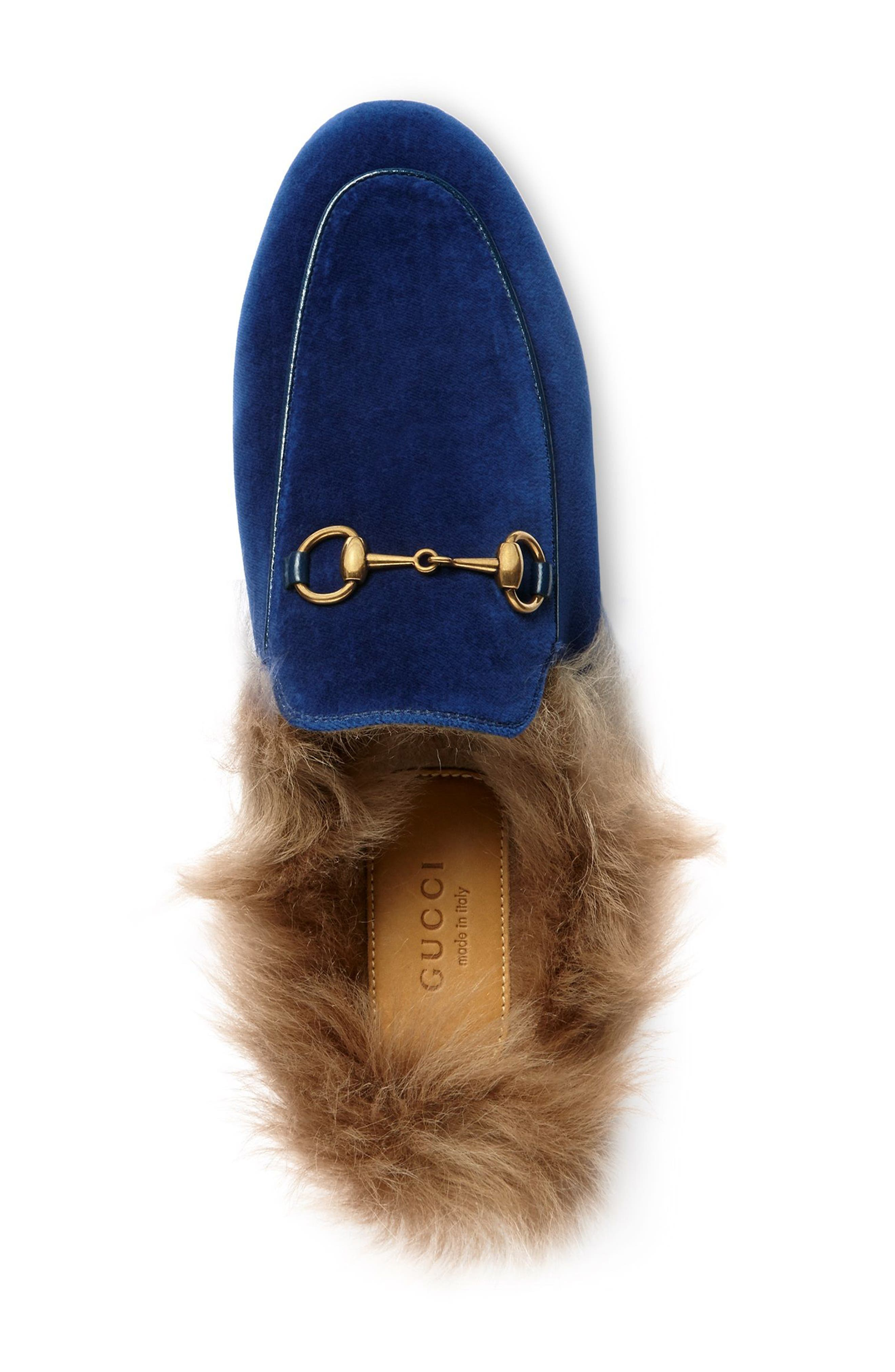 Alternate Image 3  - Gucci 'Princetown' Genuine Shearling Mule Loafer (Women)