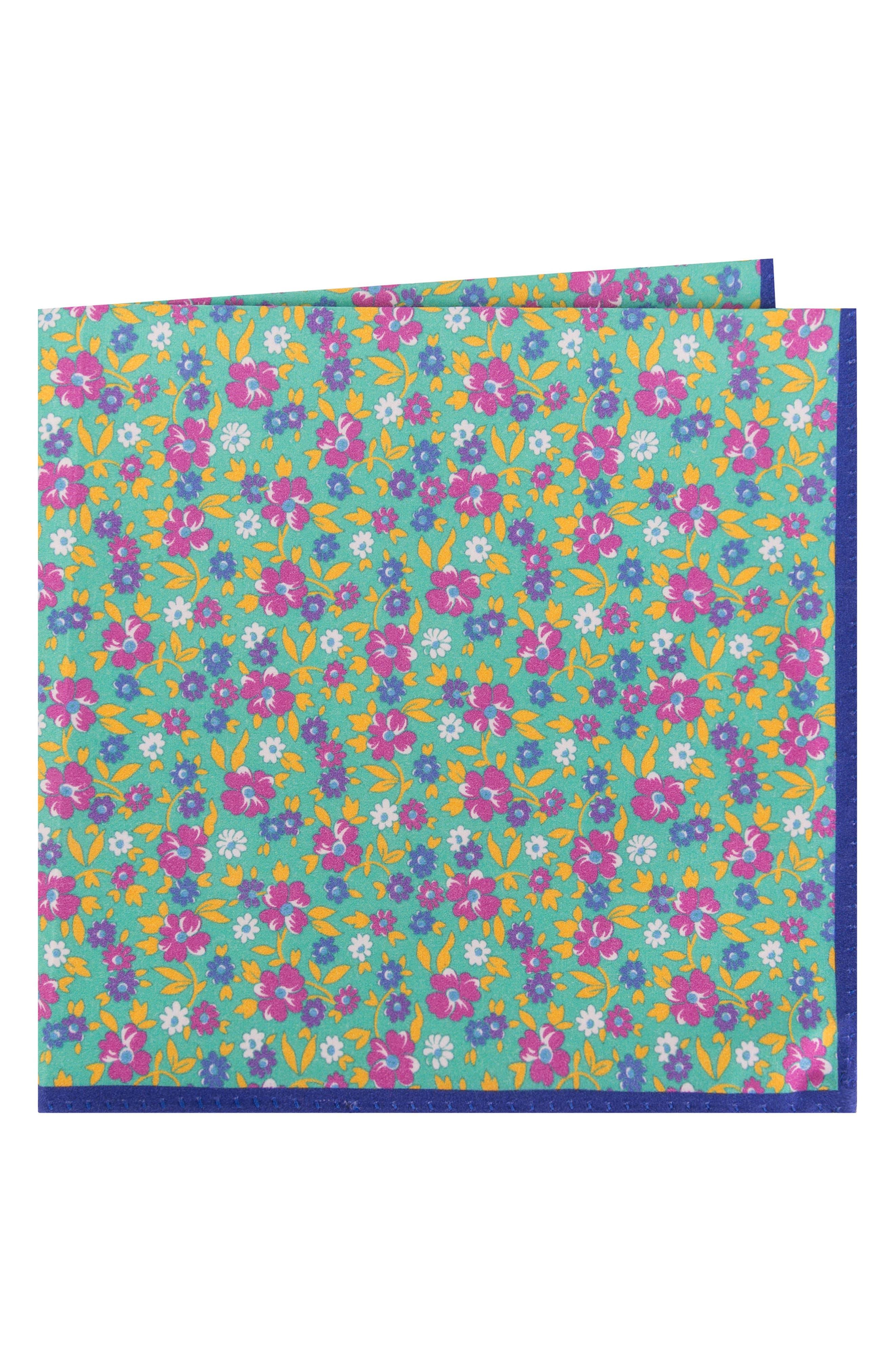 Ted Baker London Floral Cotton & Silk Pocket Square