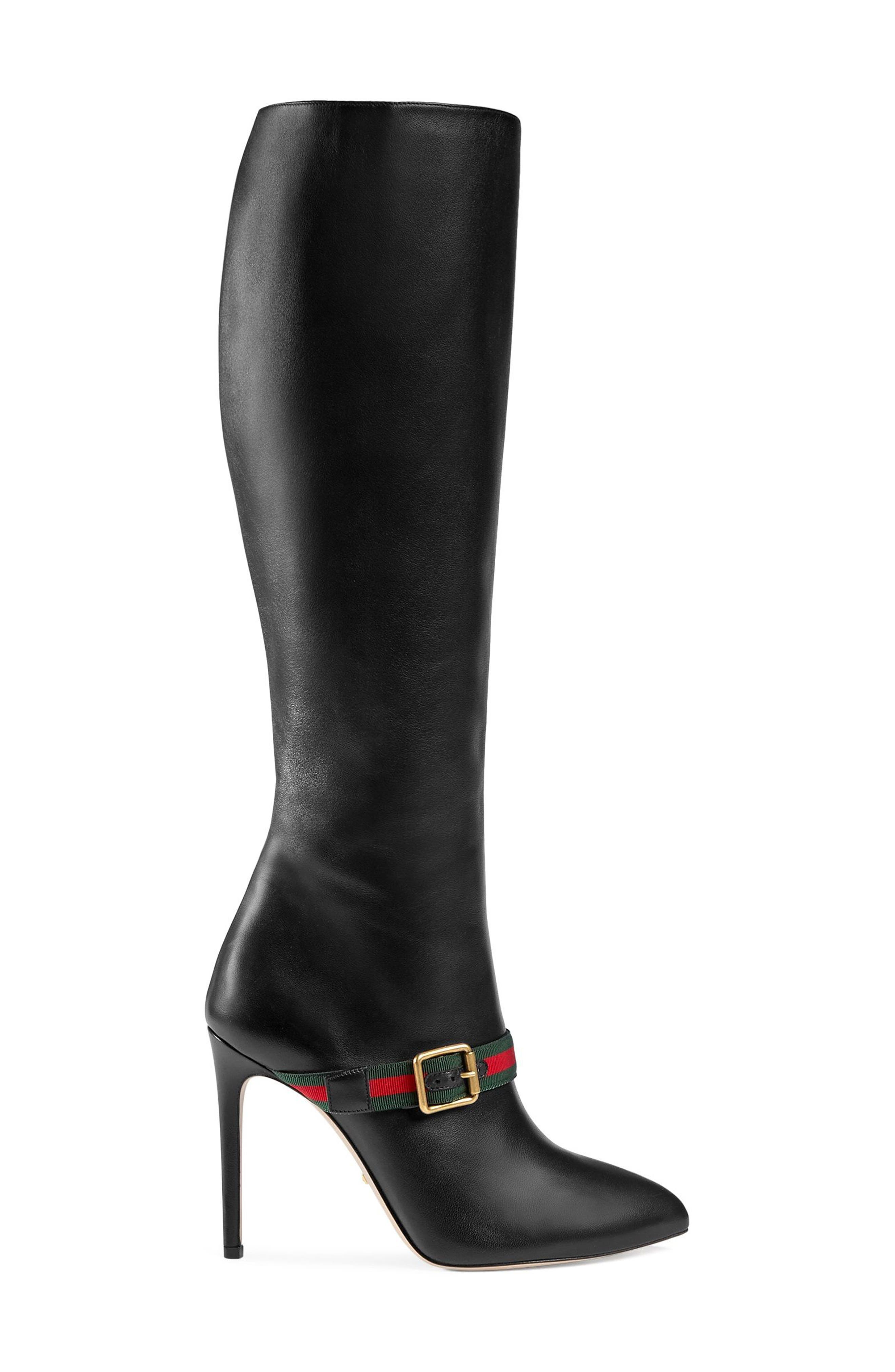 Gucci Sylvie Strap Tall Boot (Women)