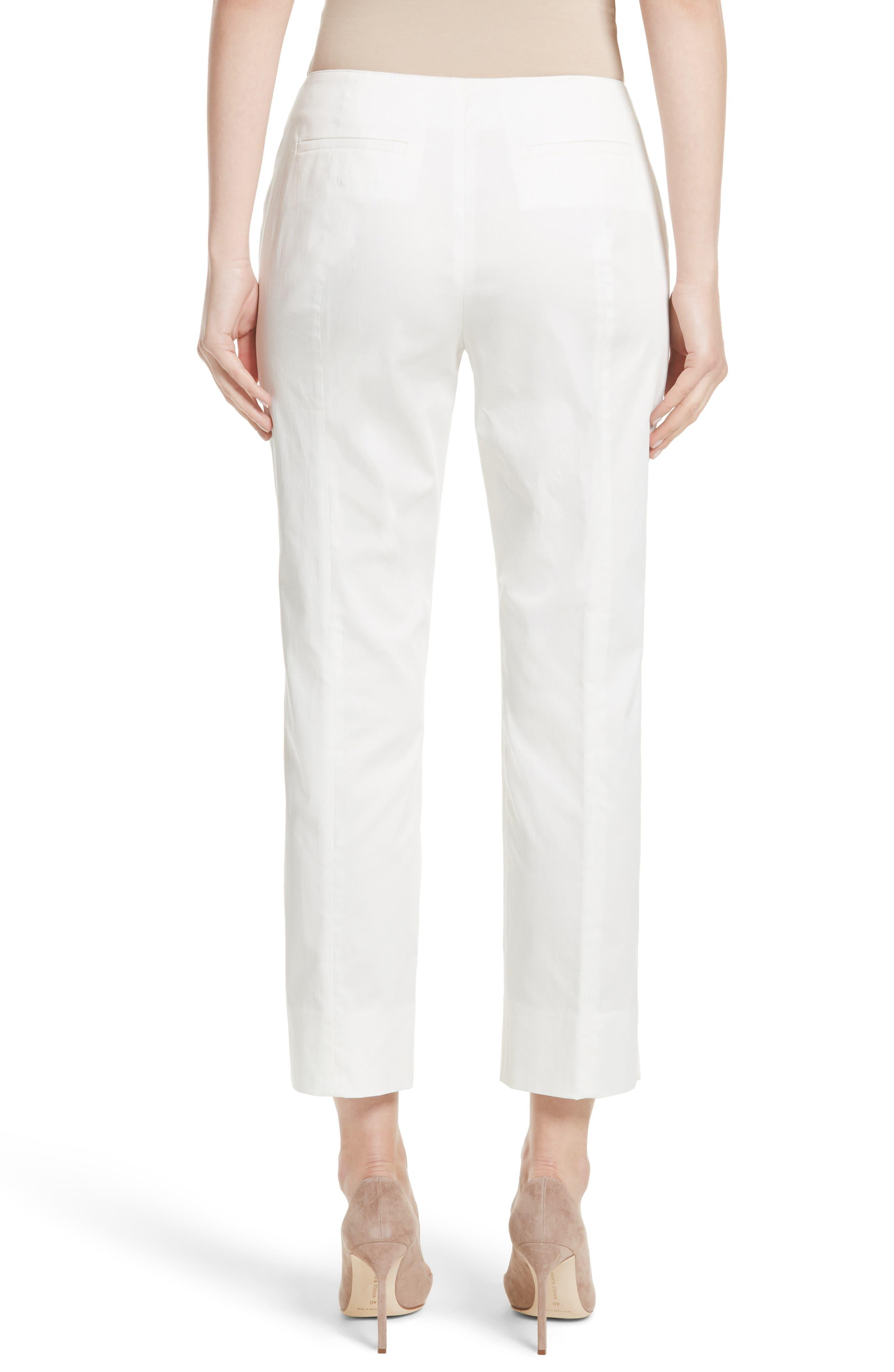 Alternate Image 2  - Armani Collezioni Stretch Cotton Ankle Pants
