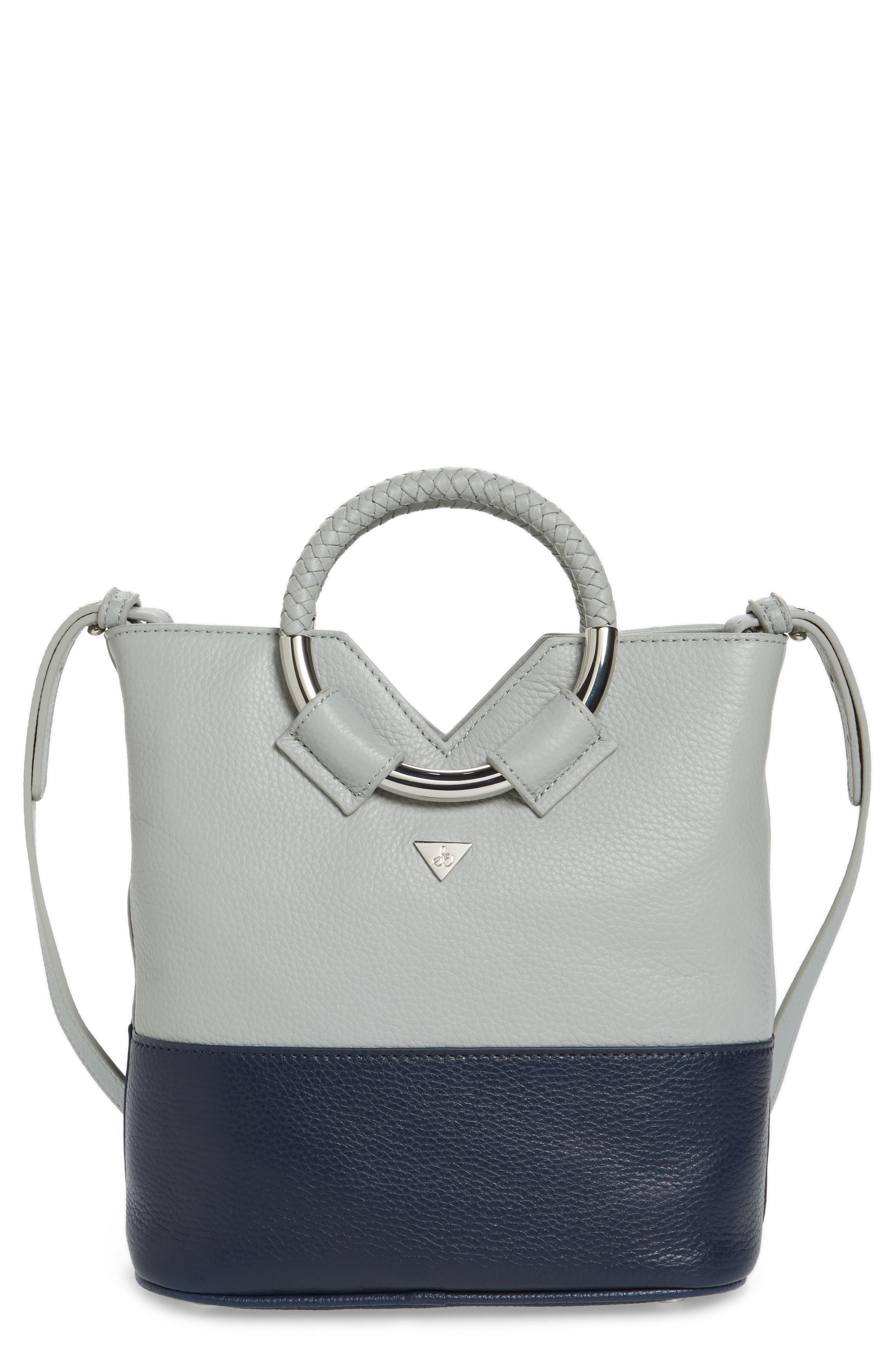 Small Elina Leather Crossbody Bag,                         Main,                         color, Denim/ Ink Navy