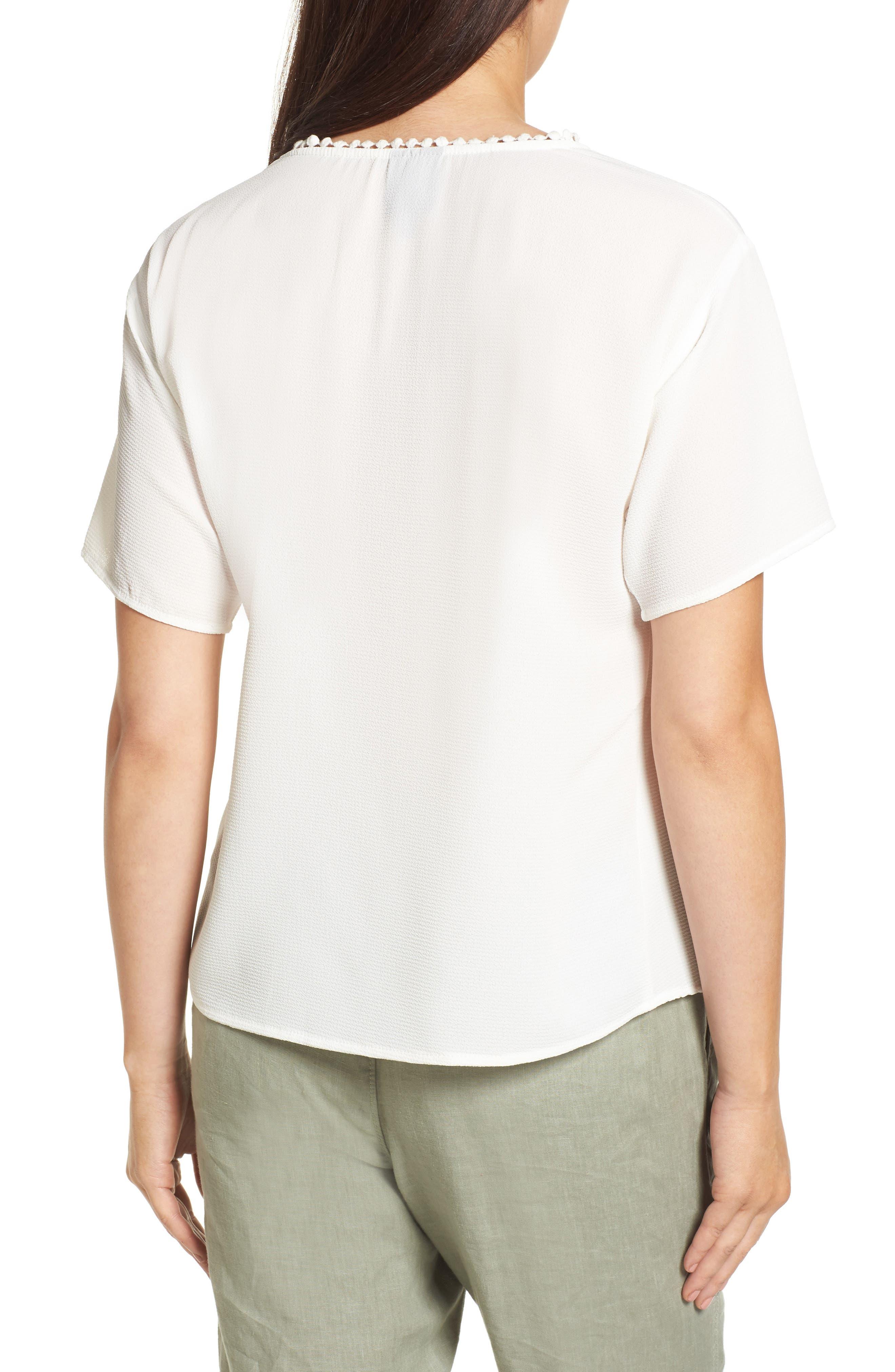 Alternate Image 2  - Bobeau Stretch Crepe Top (Regular & Petite)