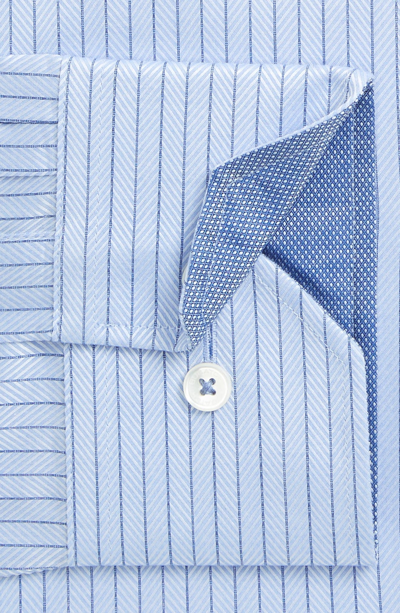 Alternate Image 2  - Bugatchi Trim Fit Herringbone Dress Shirt
