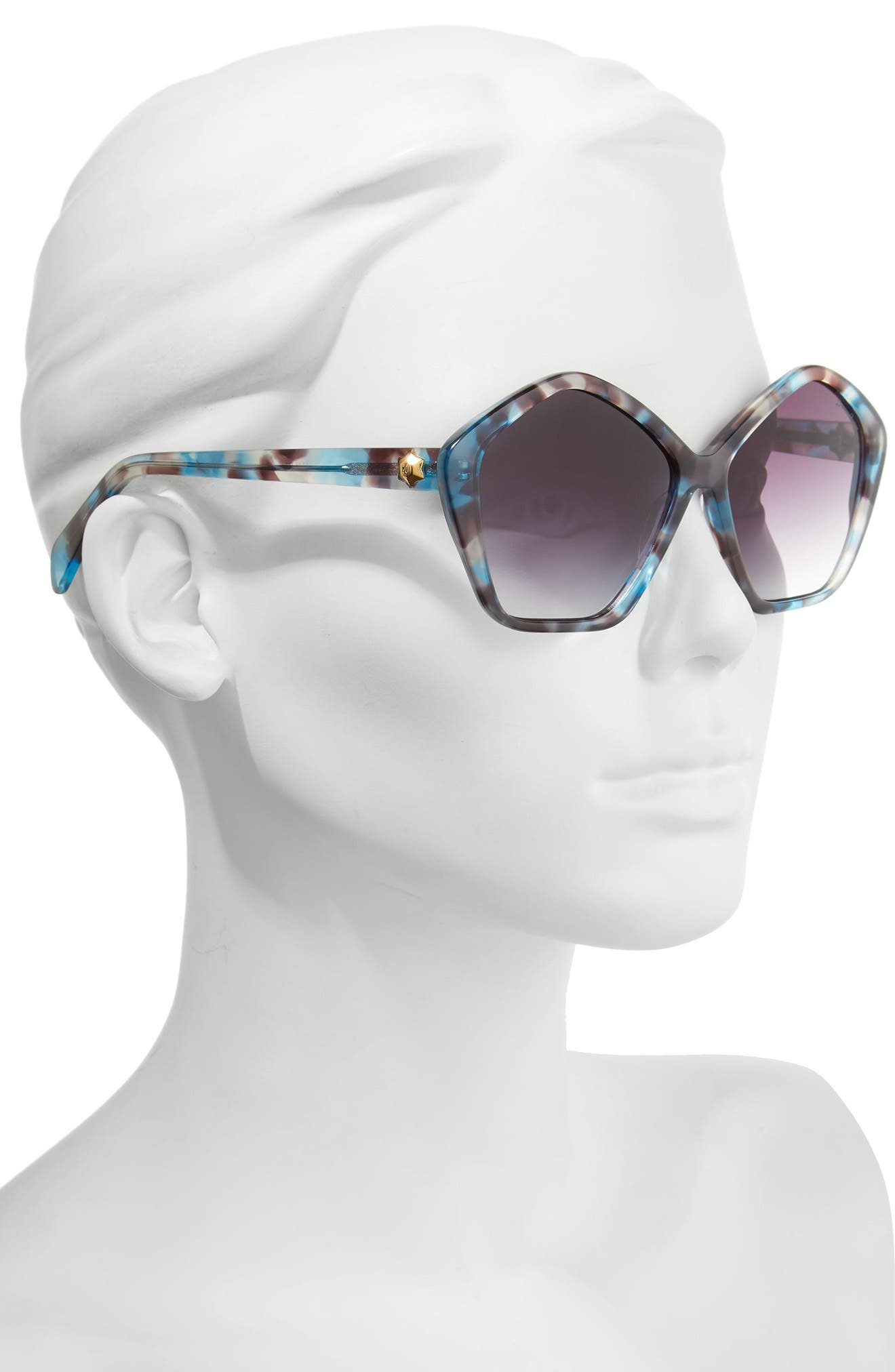 Alternate Image 2  - Draper James 57mm Gradient Lens Geometric Sunglasses