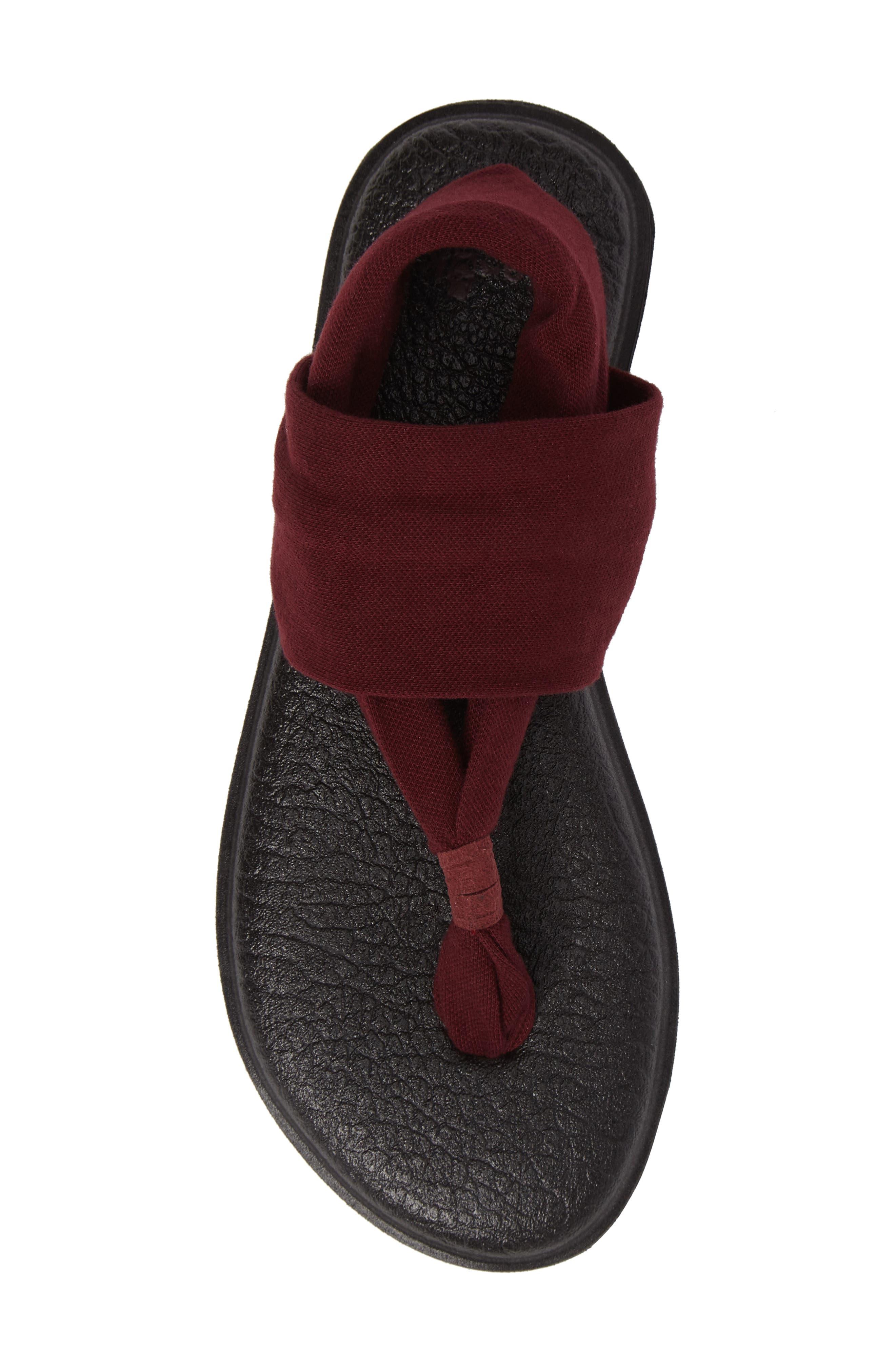 'Yoga Sling 2' Sandal,                             Alternate thumbnail 5, color,                             Burgundy
