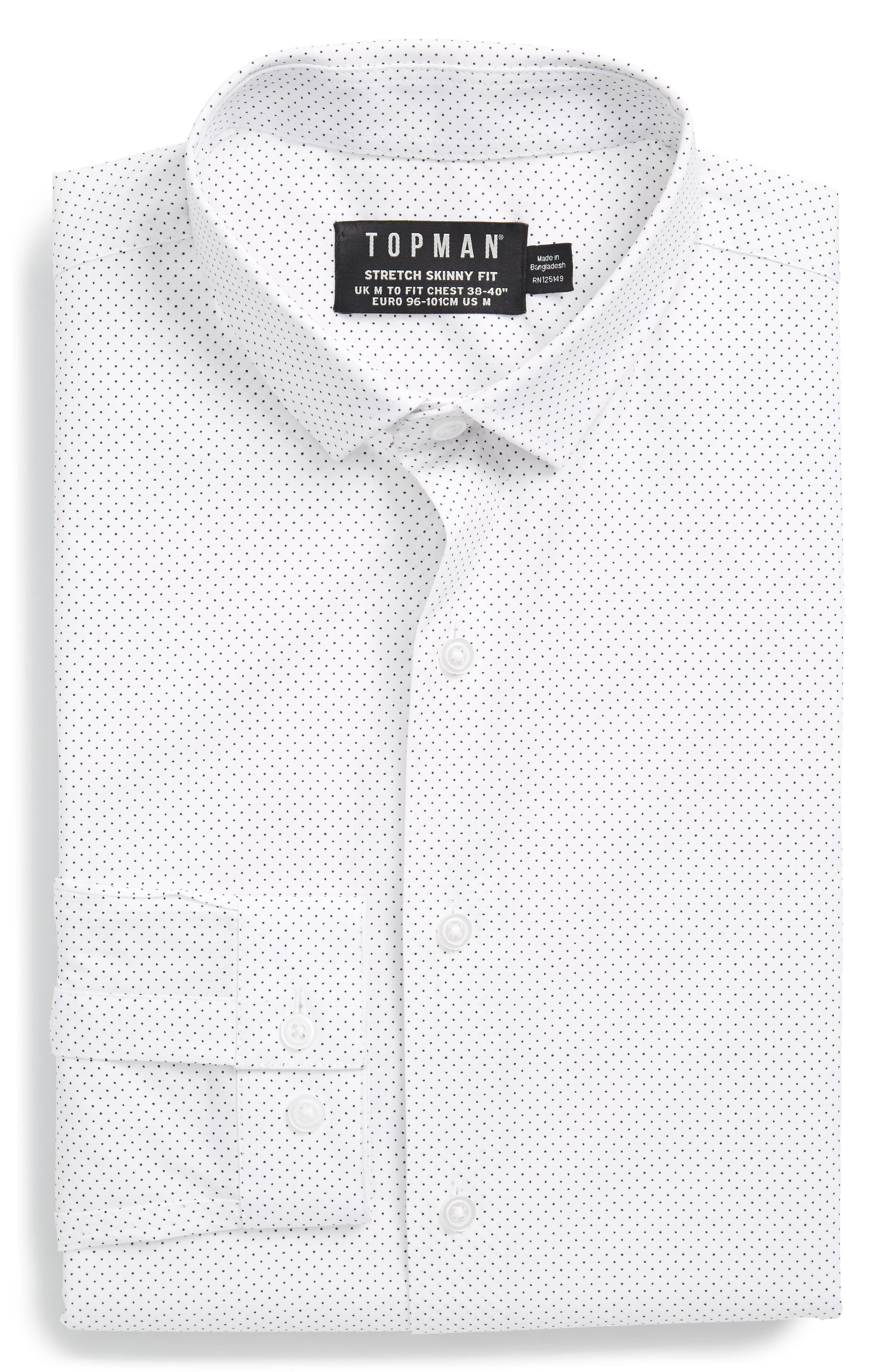 Topman Dot Print Dress Shirt