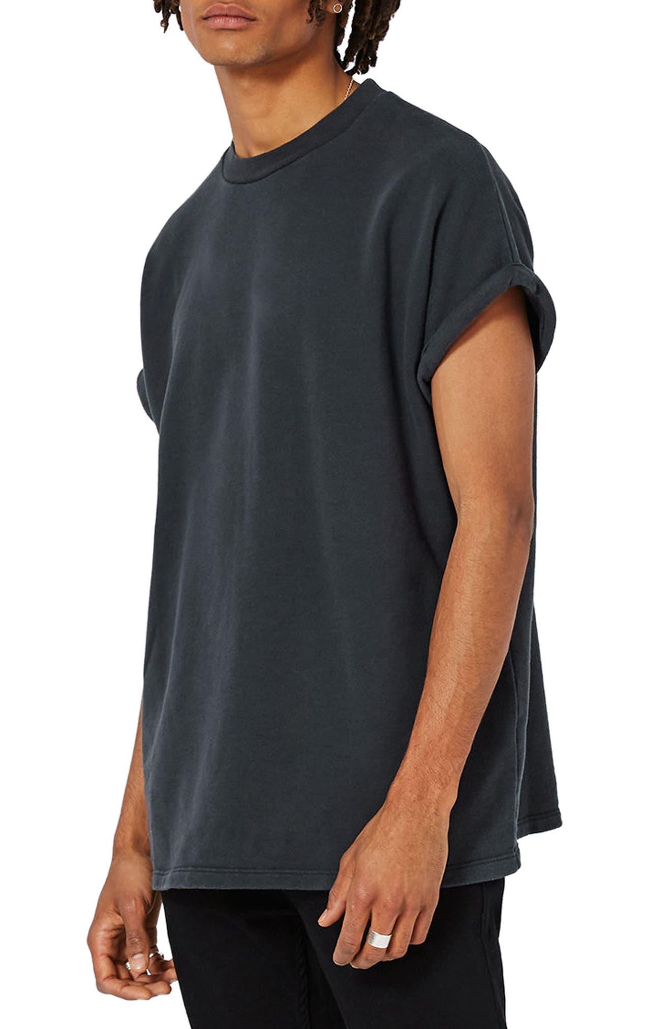 Main Image - Topman Short Sleeve Sweatshirt
