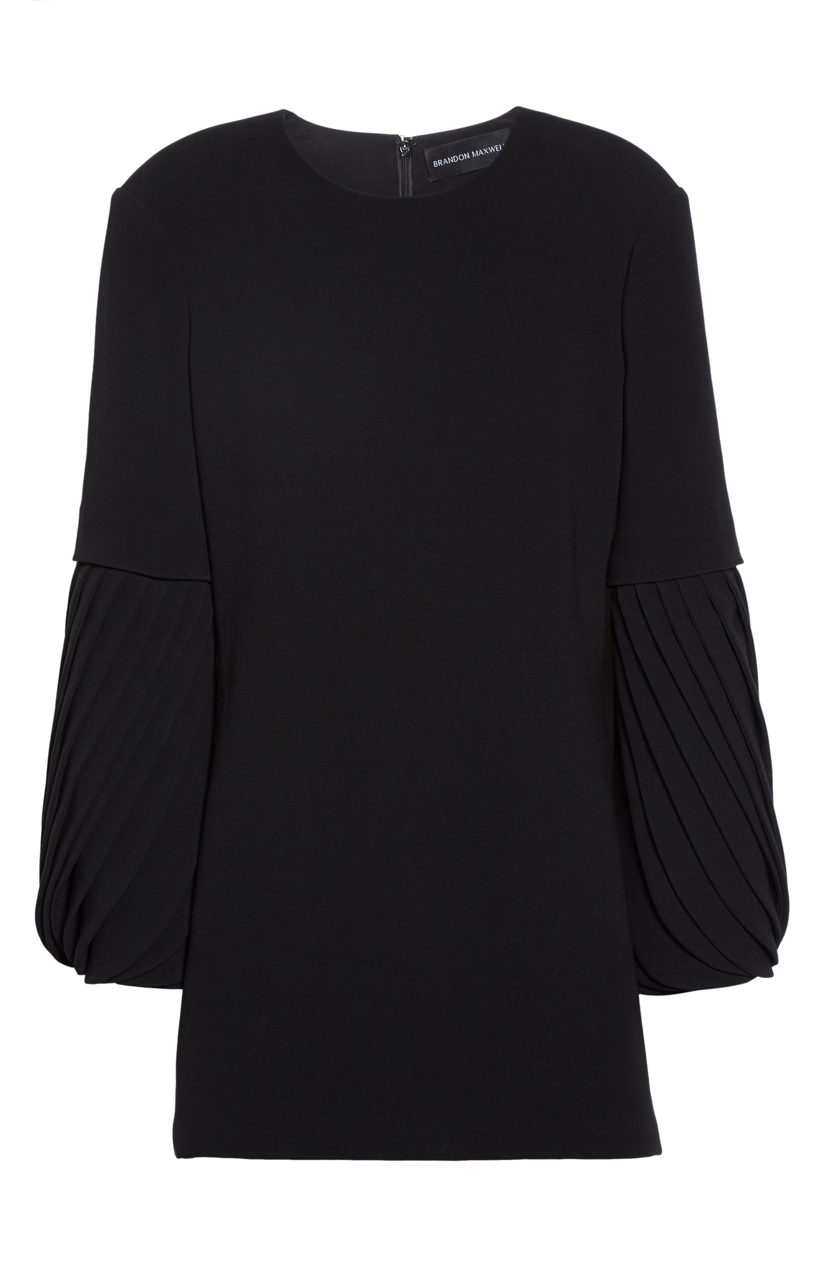 Alternate Image 4  - Brandon Maxwell Petal Sleeve Crepe Dress