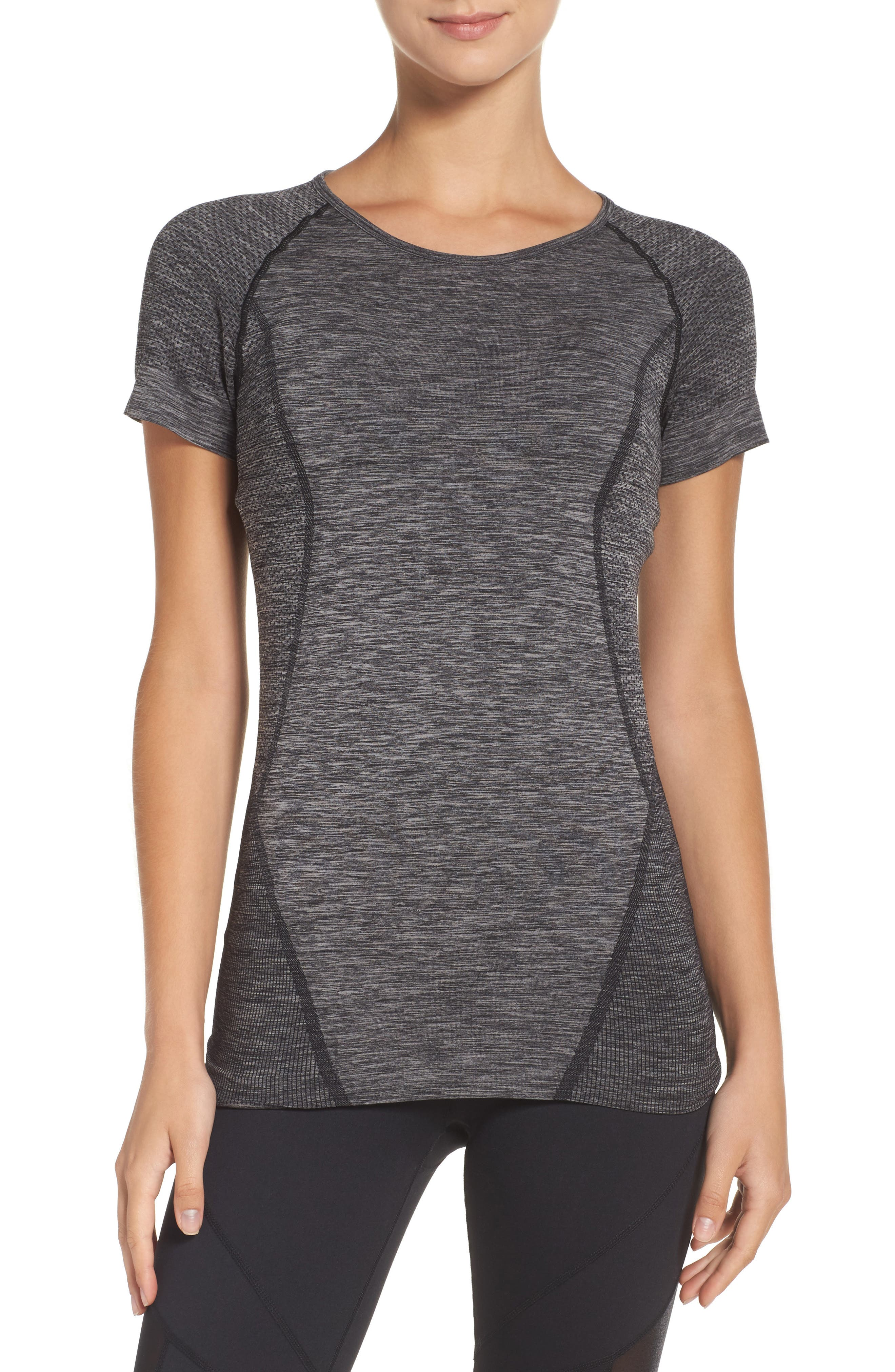 Alternate Image 1 Selected - Zella Stand Out Seamless Training Tee