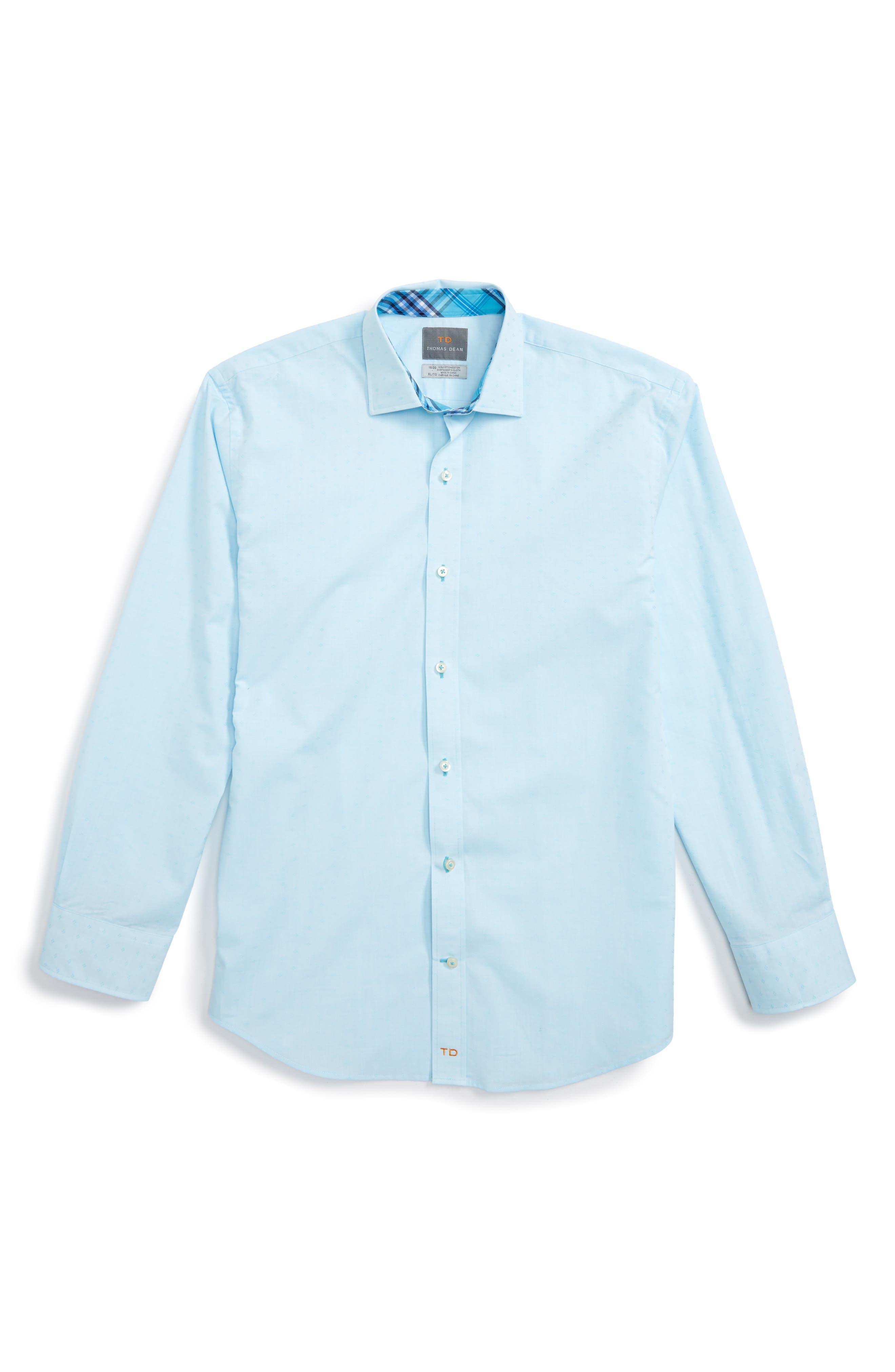 Main Image - Thomas Dean Geometric Dress Shirt (Big Boys)