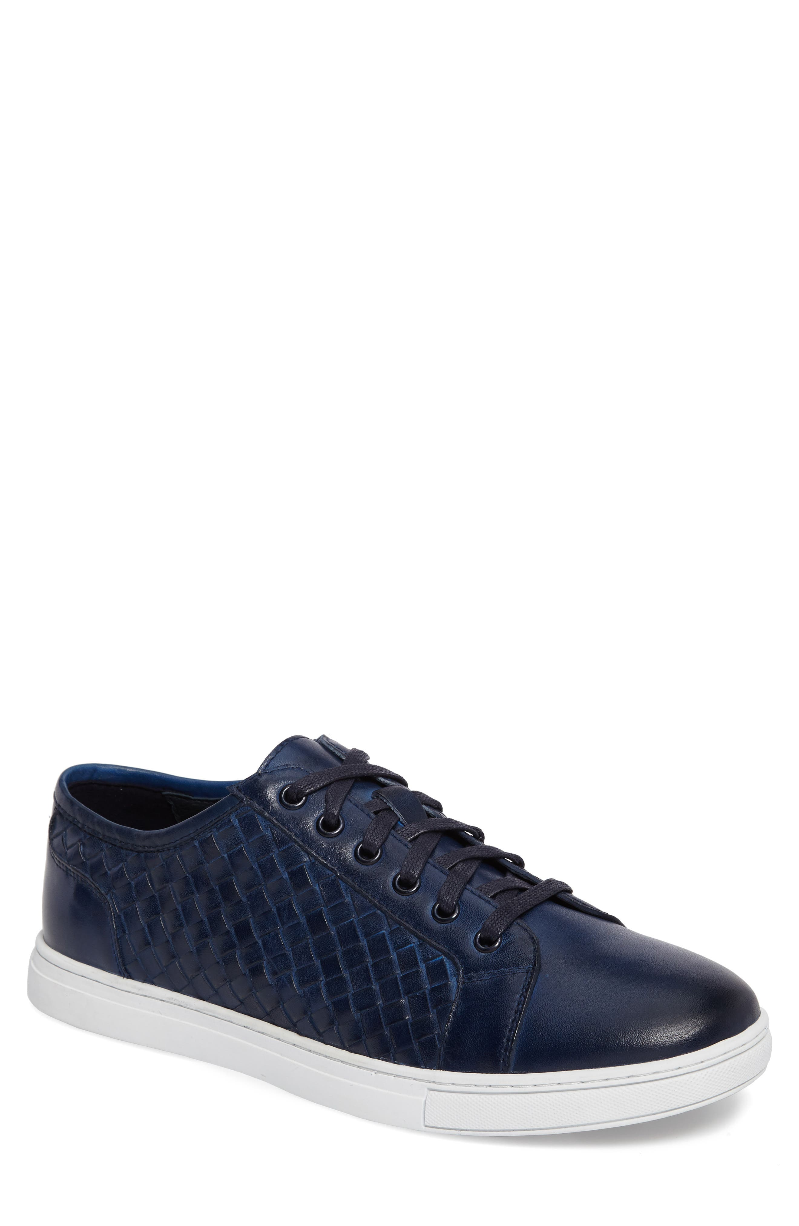Fader Sneaker,                         Main,                         color, Blue Leather