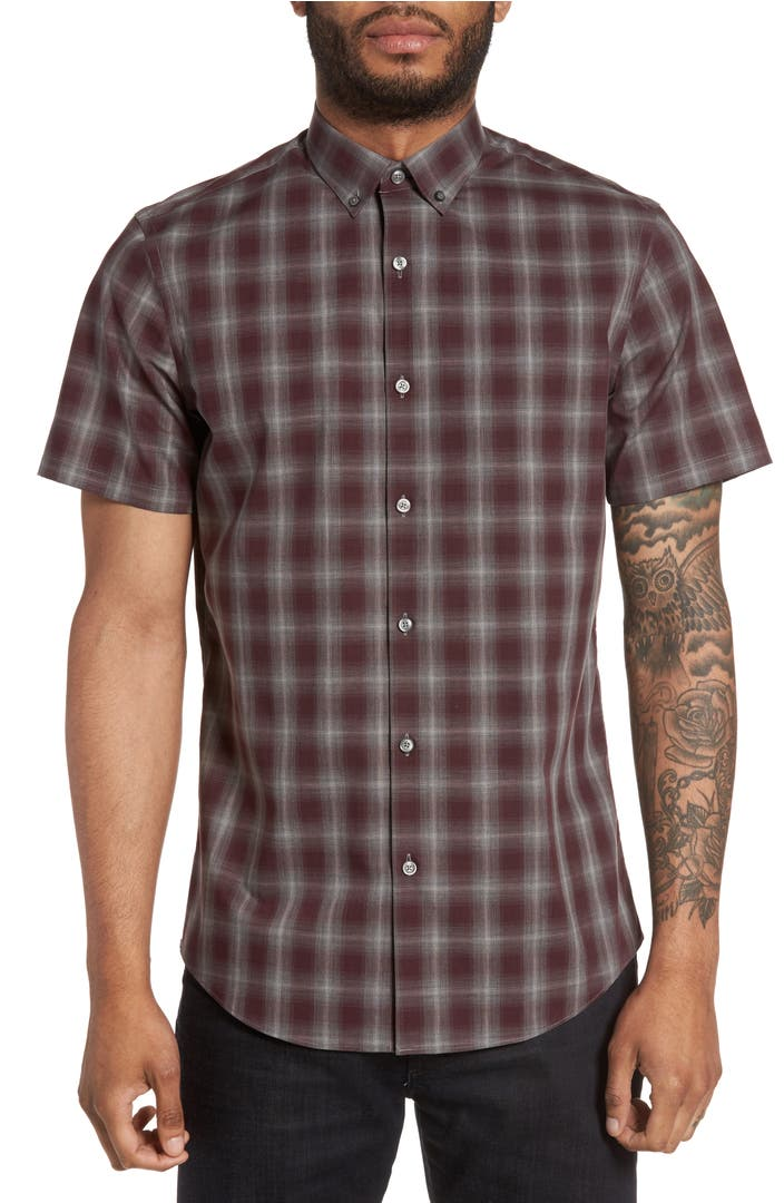 Calibrate plaid non iron sport shirt nordstrom for What is a non iron shirt