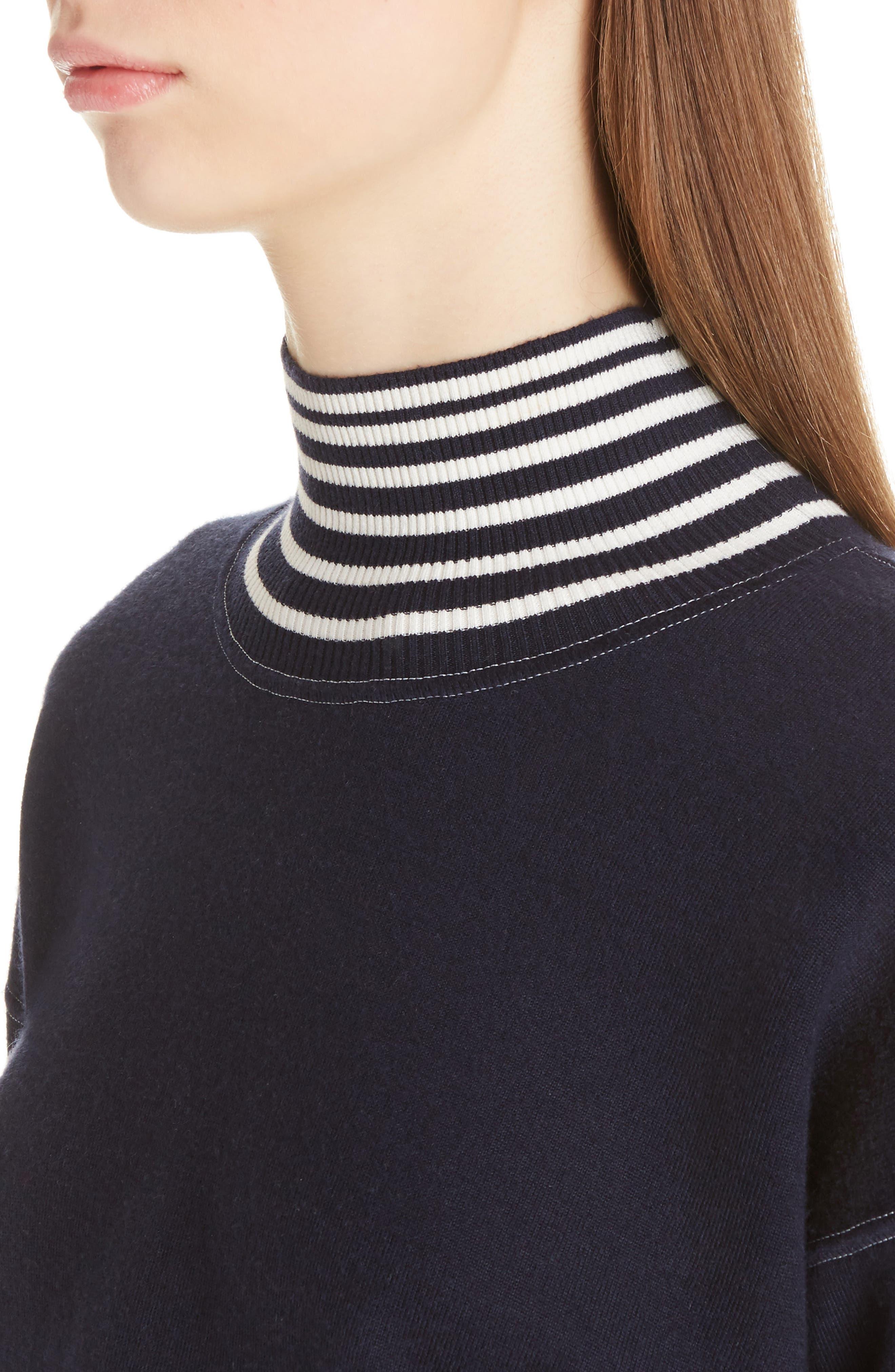 Alternate Image 5  - Loewe Stripe Knit Turtleneck