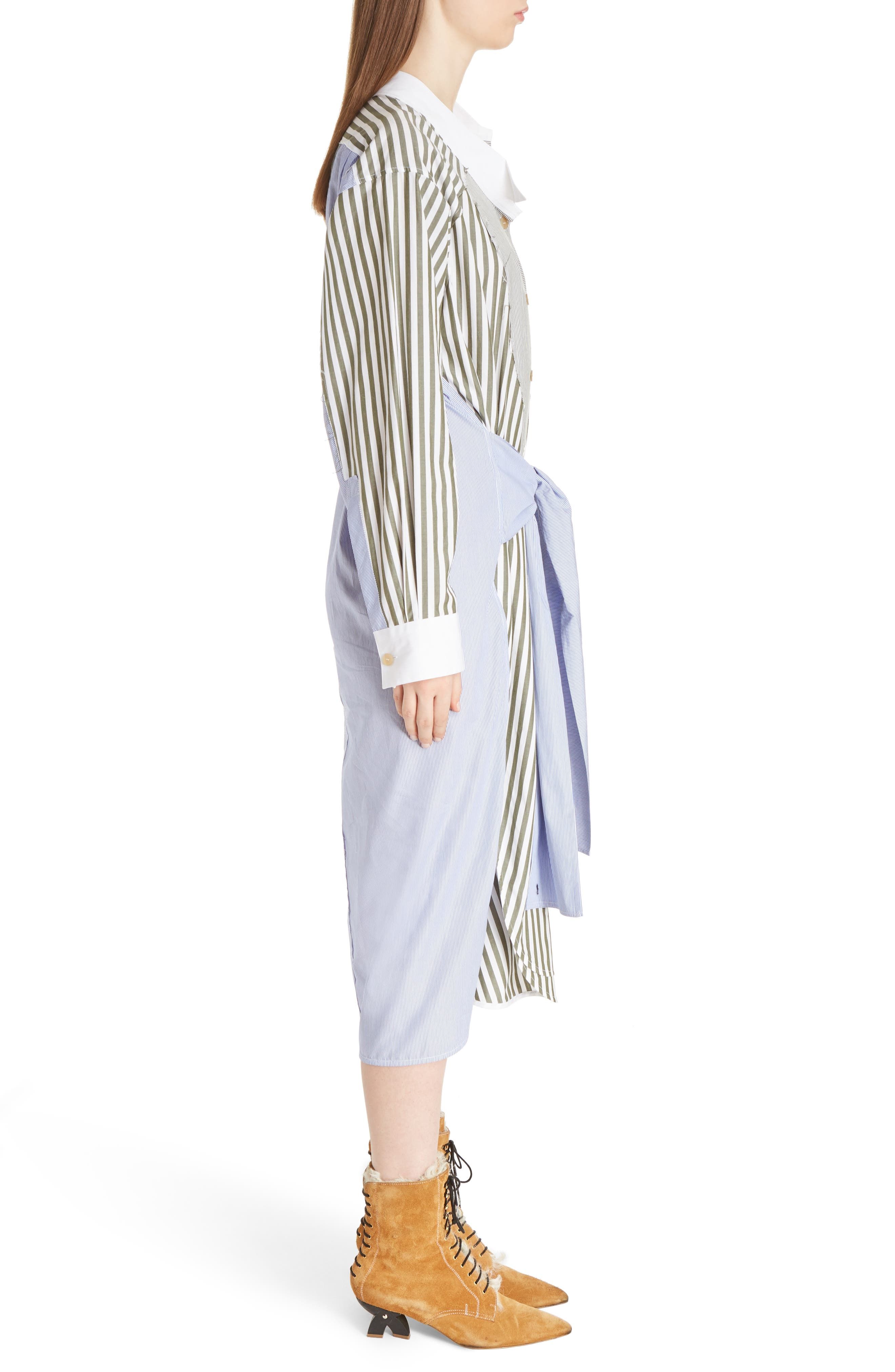 Alternate Image 4  - Loewe Tie Waist Cotton Poplin Shirtdress