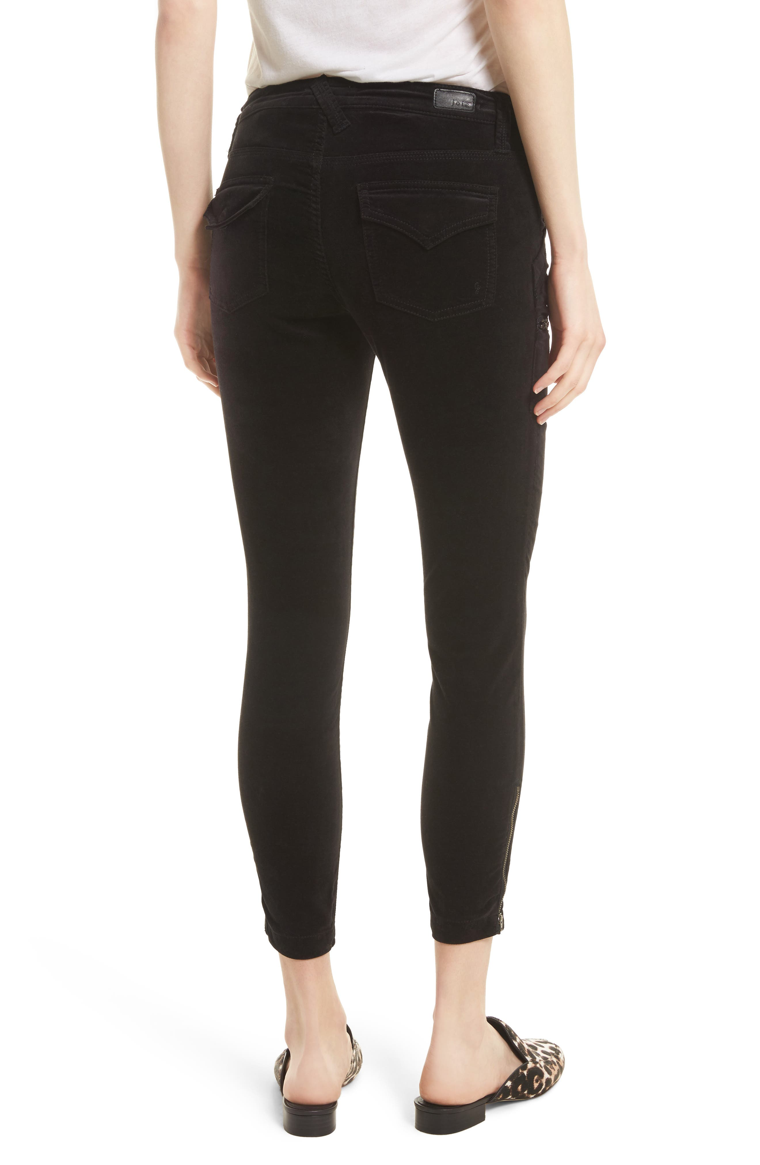 Park Stretch Cotton Skinny Pants,                             Alternate thumbnail 2, color,                             Caviar