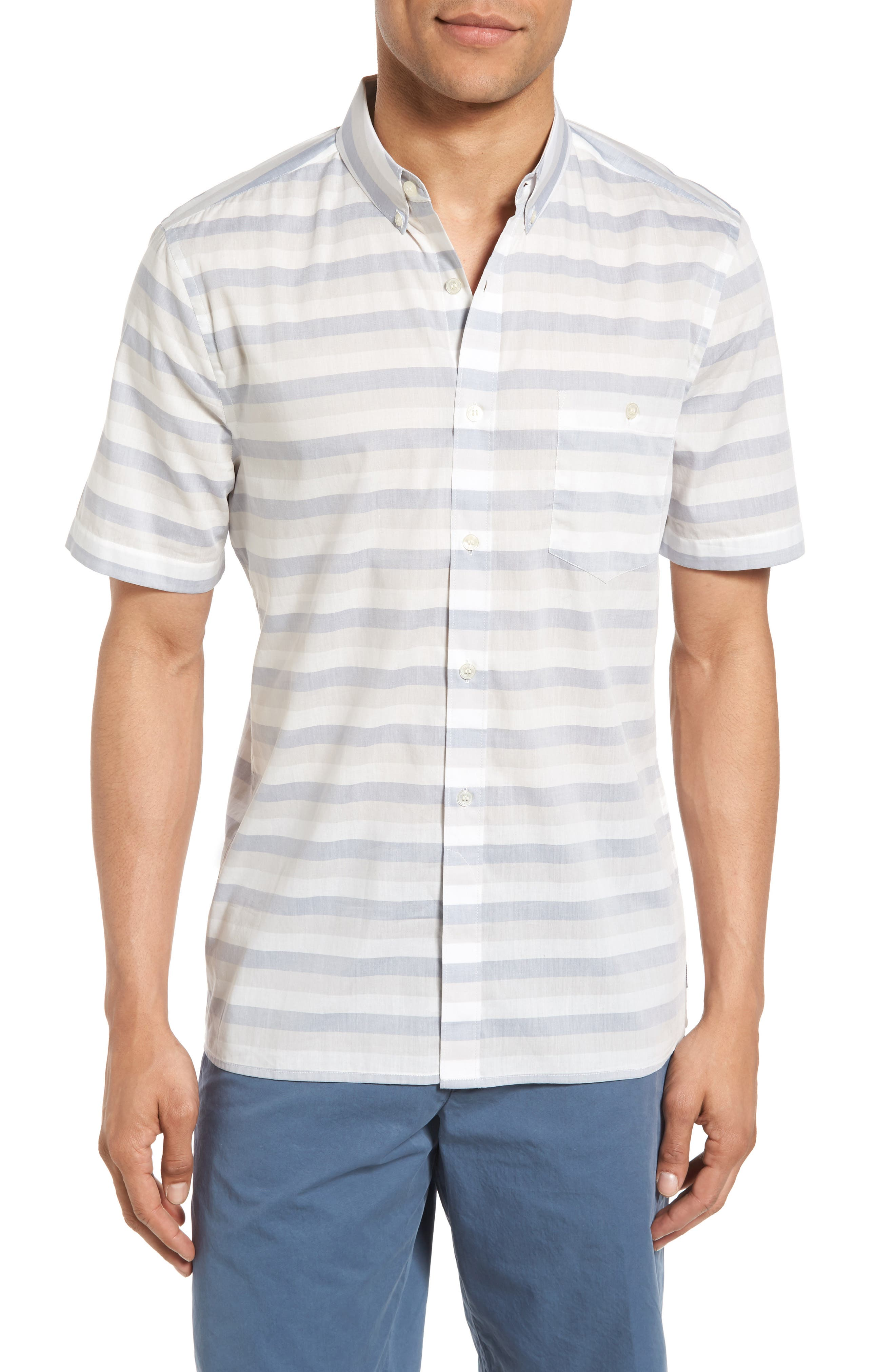 French Connection Lifeline Stripe Cotton Shirt