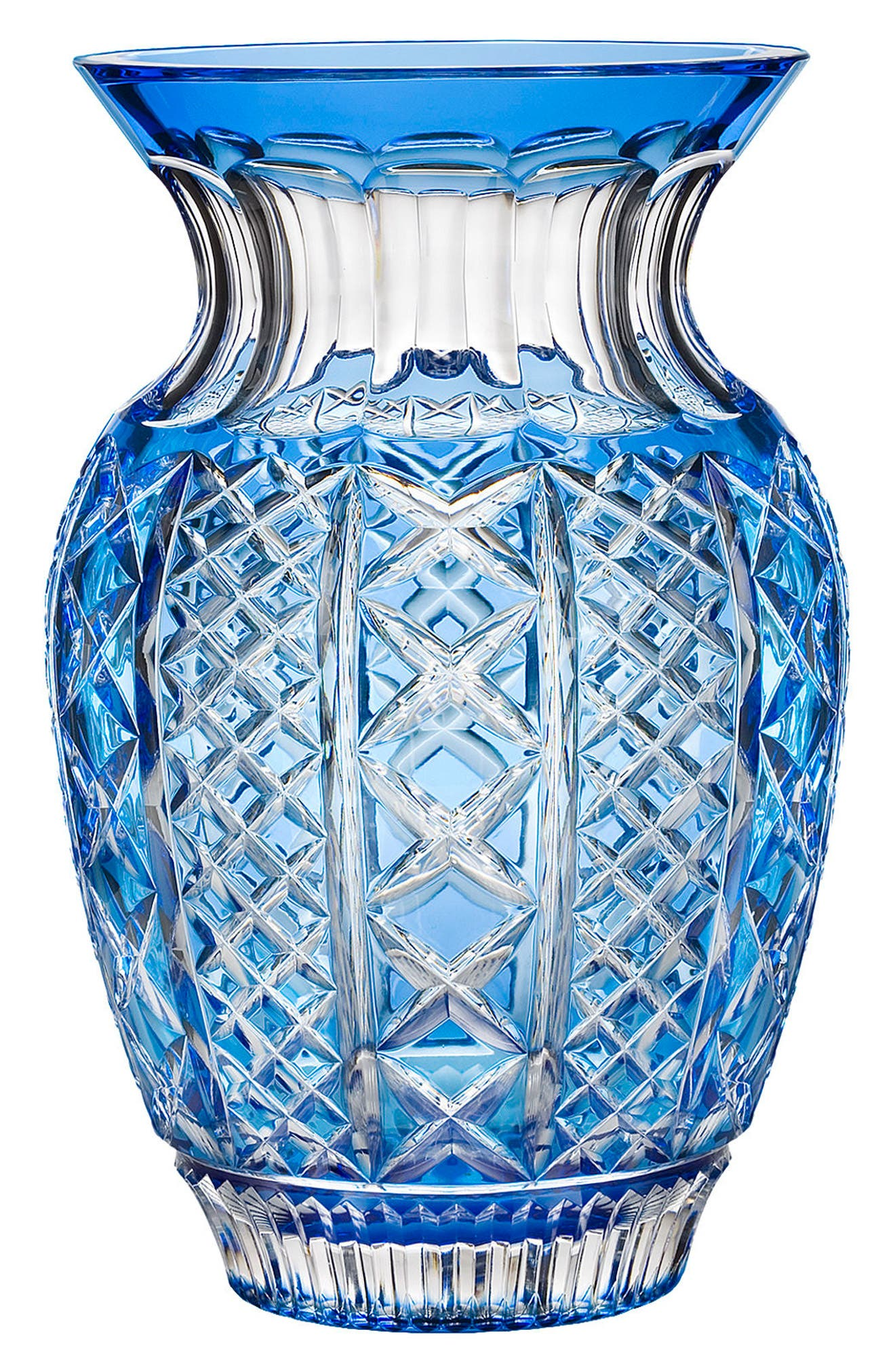 Fleurology Jeff Leatham Molly Blue Bouquet Vase,                             Main thumbnail 1, color,                             Crystal