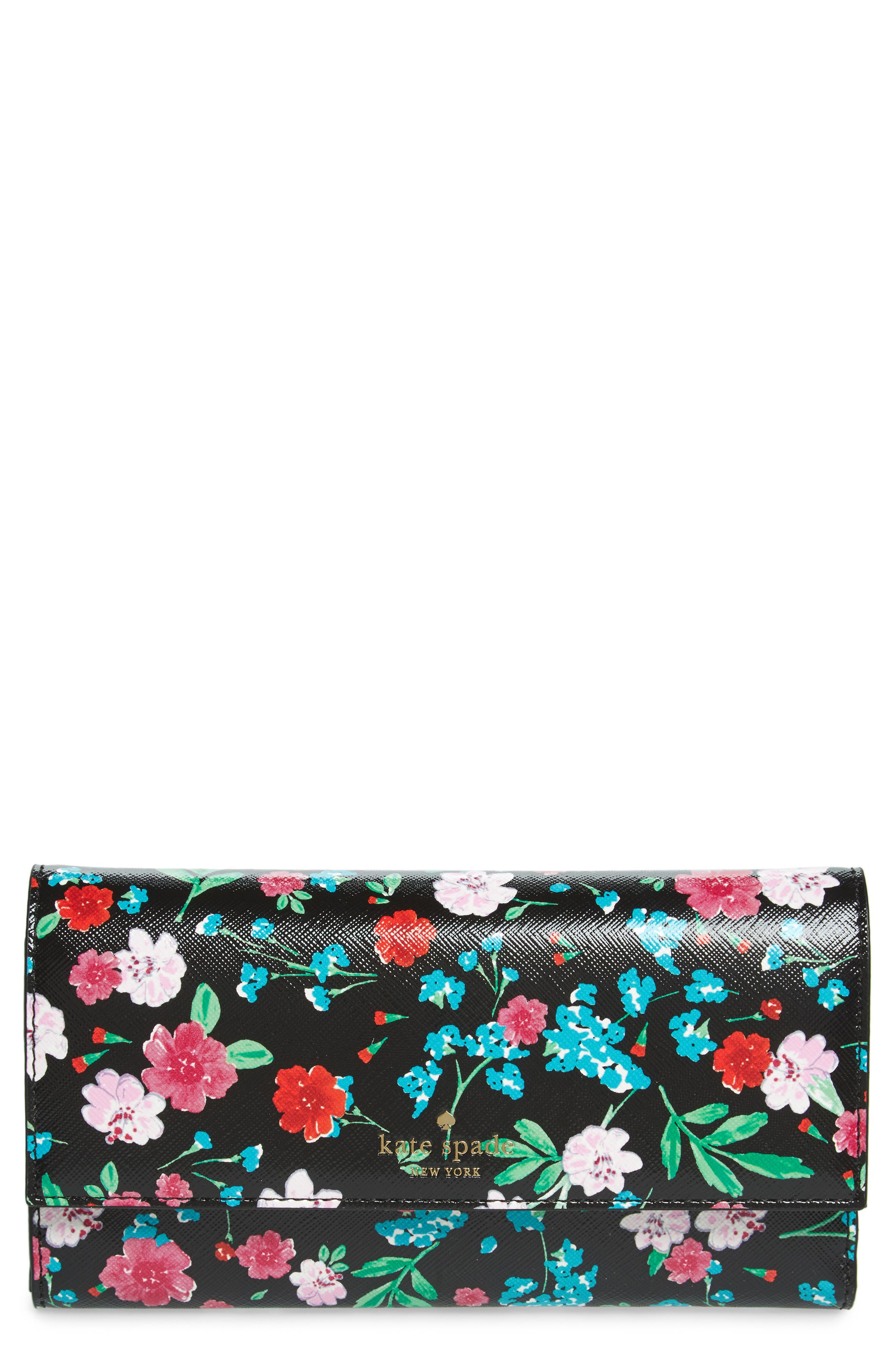 Main Image - kate spade new york greenhouse leather iPhone 7/8 wallet