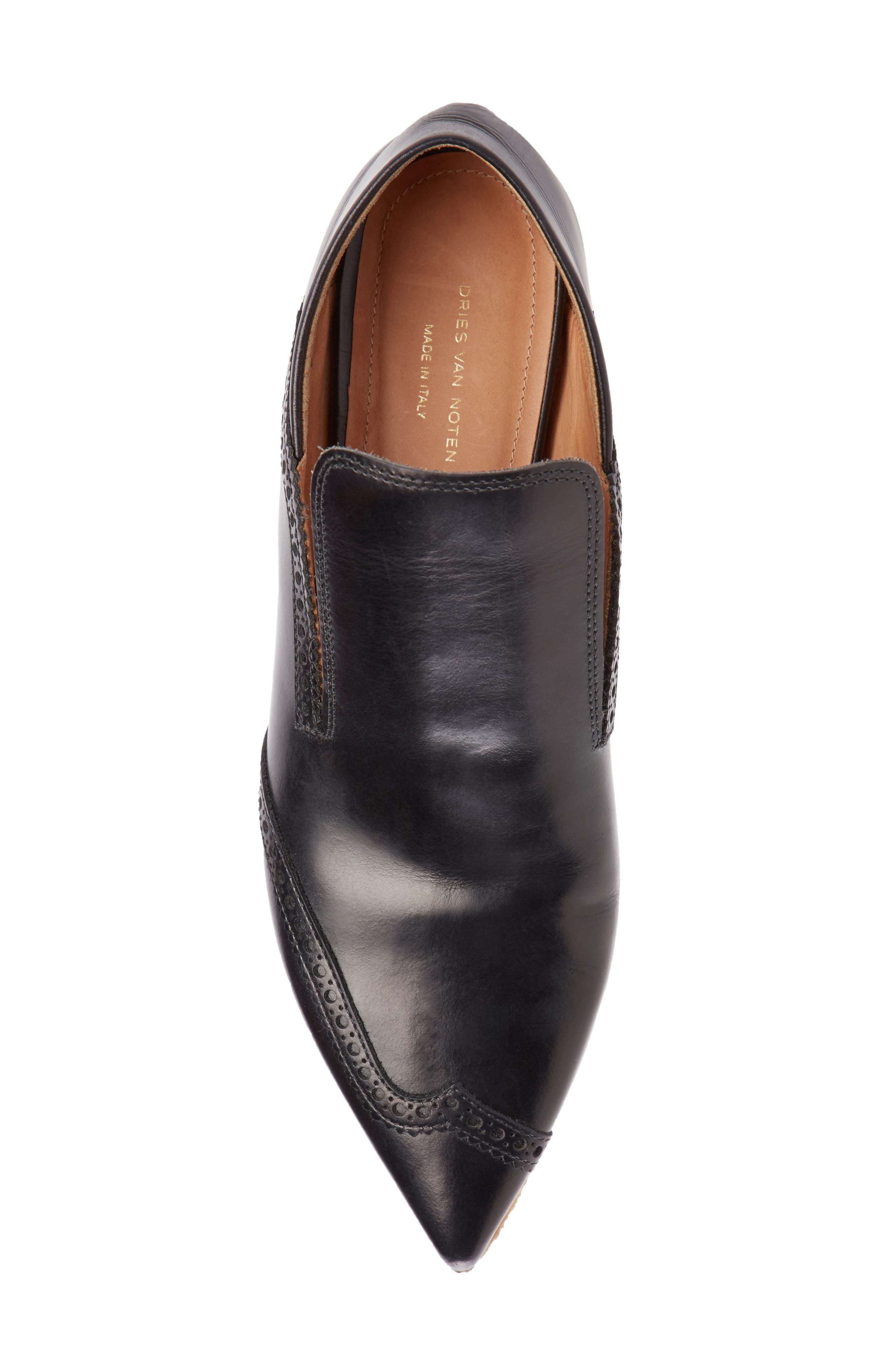 Pointy Toe Loafer,                             Alternate thumbnail 3, color,                             Black