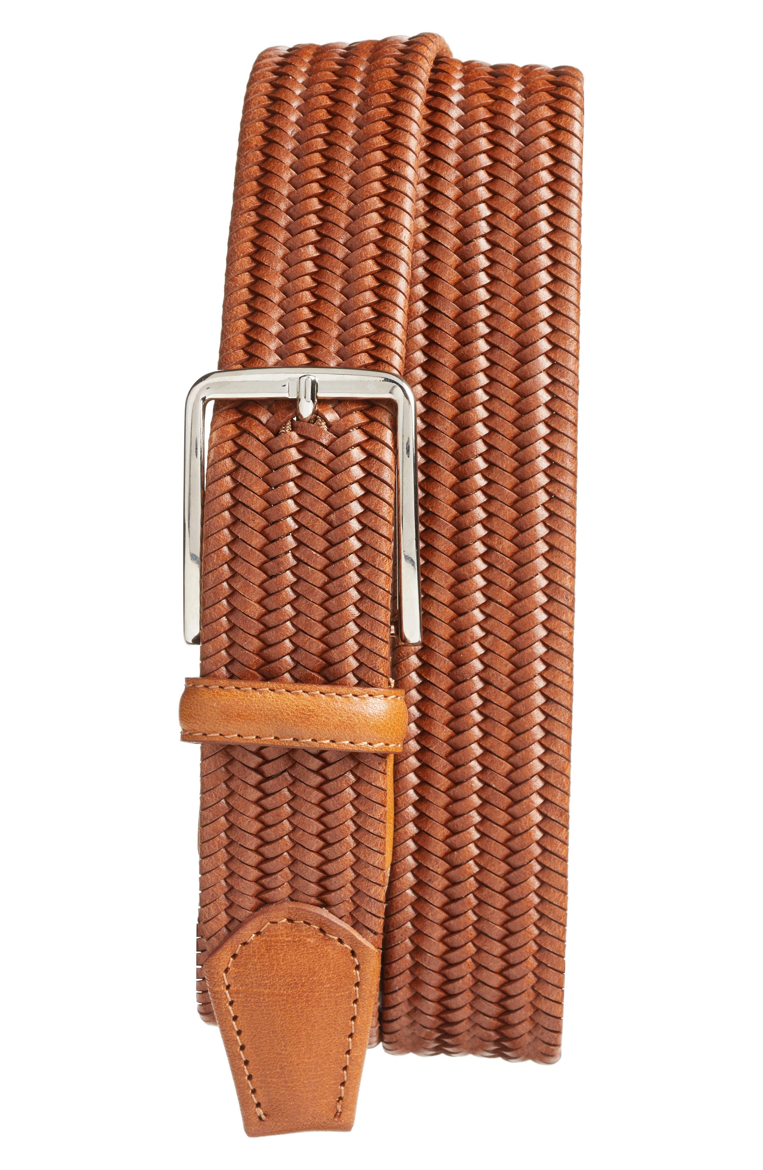 Main Image - Martin Dingman Lexington Braided Leather Belt
