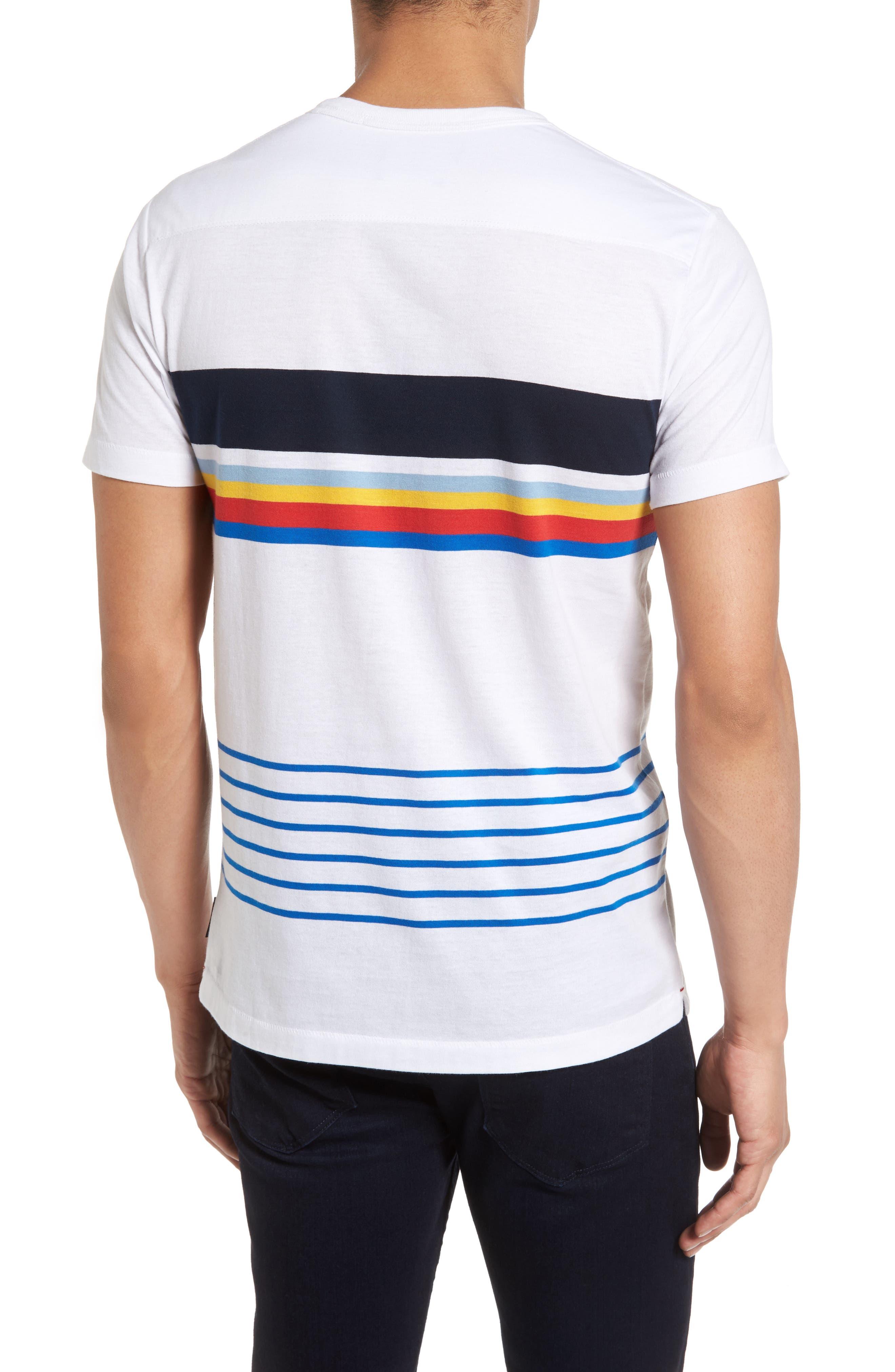 Senior Stripe Slim Fit T-Shirt,                             Alternate thumbnail 2, color,                             White