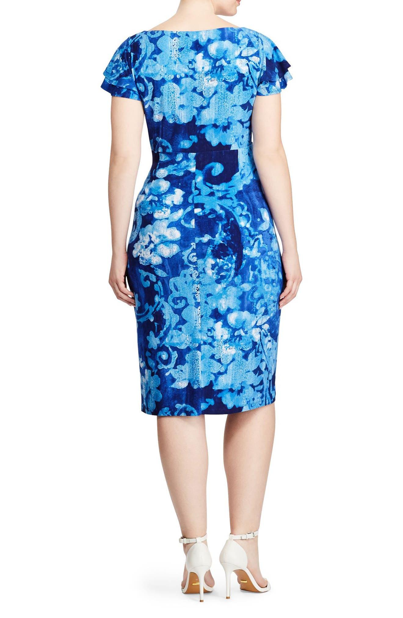Alternate Image 2  - Lauren Ralph Lauren Sheath Dress (Plus Size)