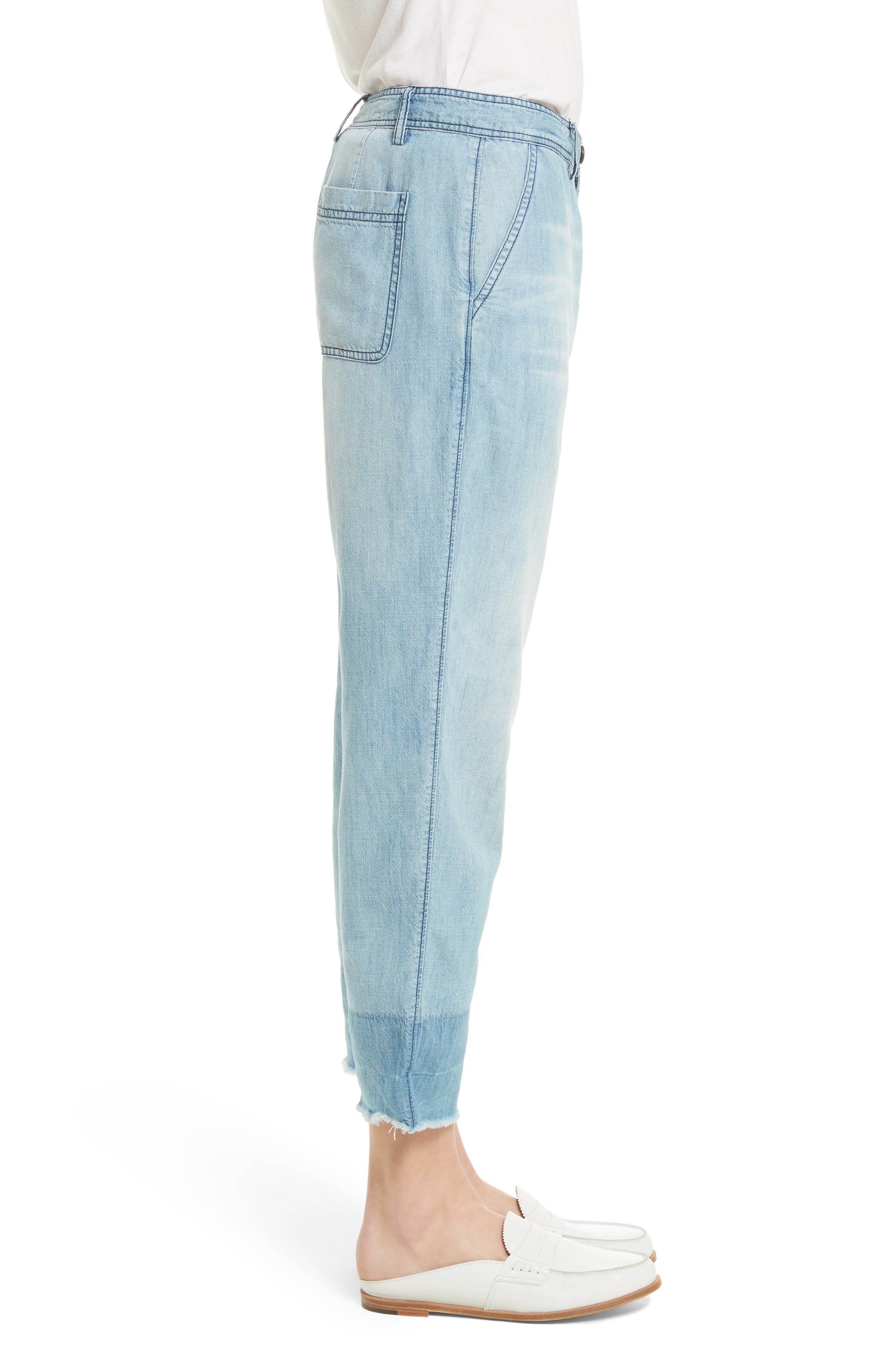 Alternate Image 4  - Soft Joie Marinne Crop Chambray Pants