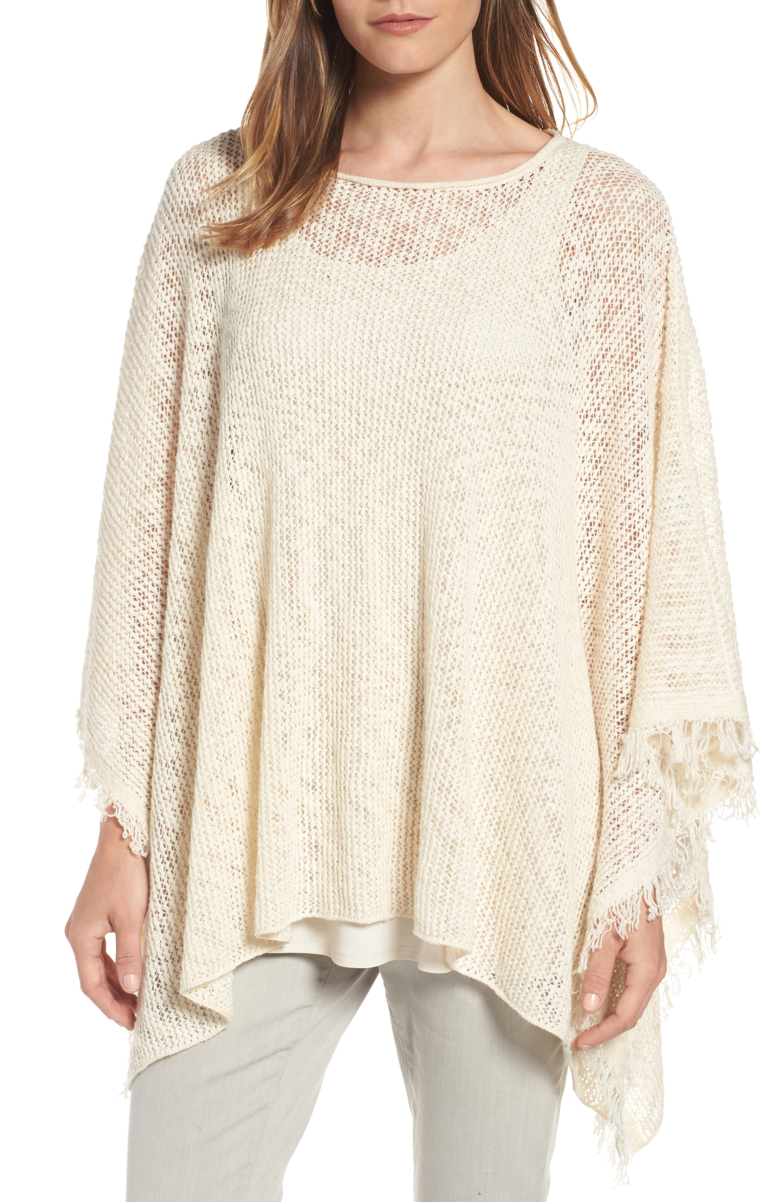 EILEEN FISHER Organic Cotton Poncho