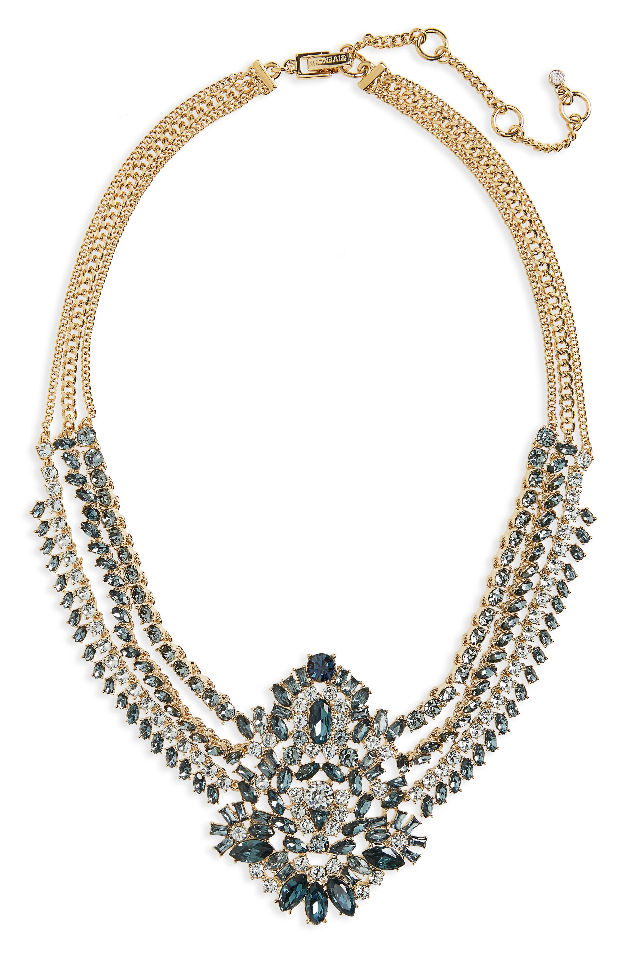 Phoenix Swag Collar Necklace,                         Main,                         color, Blue / Gold