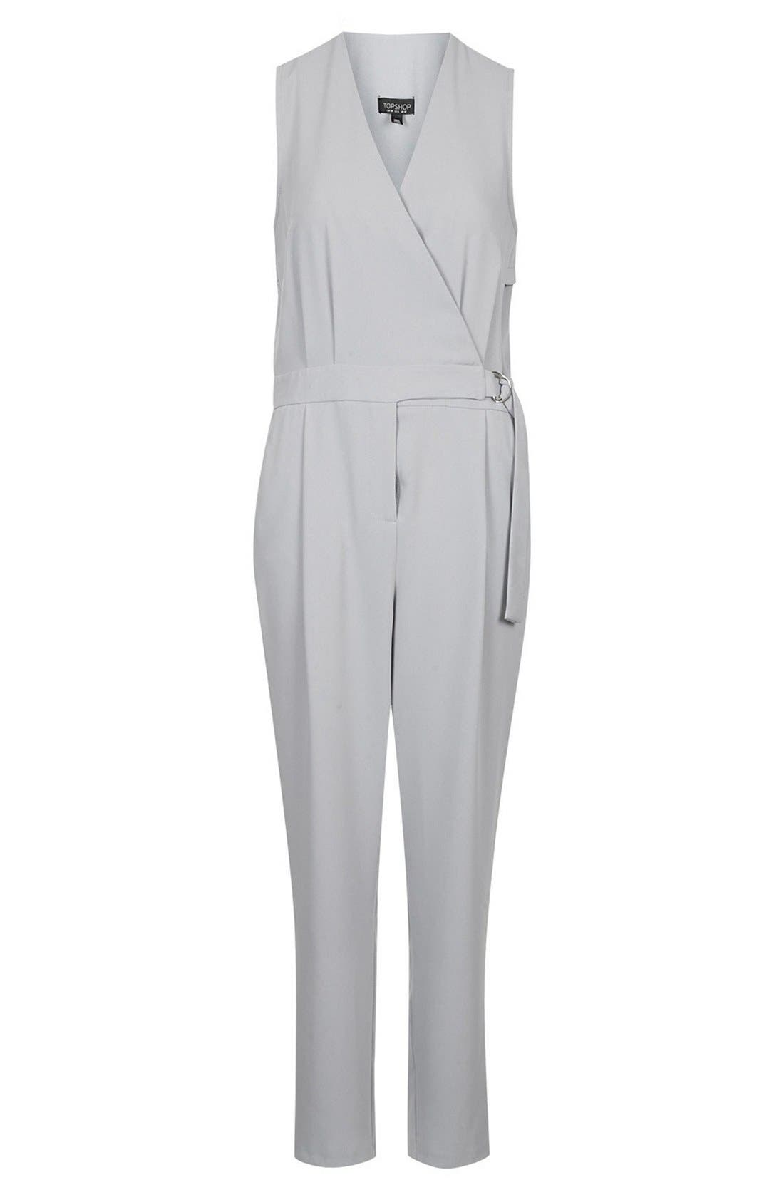 Alternate Image 3  - Topshop Sleeveless Wrap Front Jumpsuit