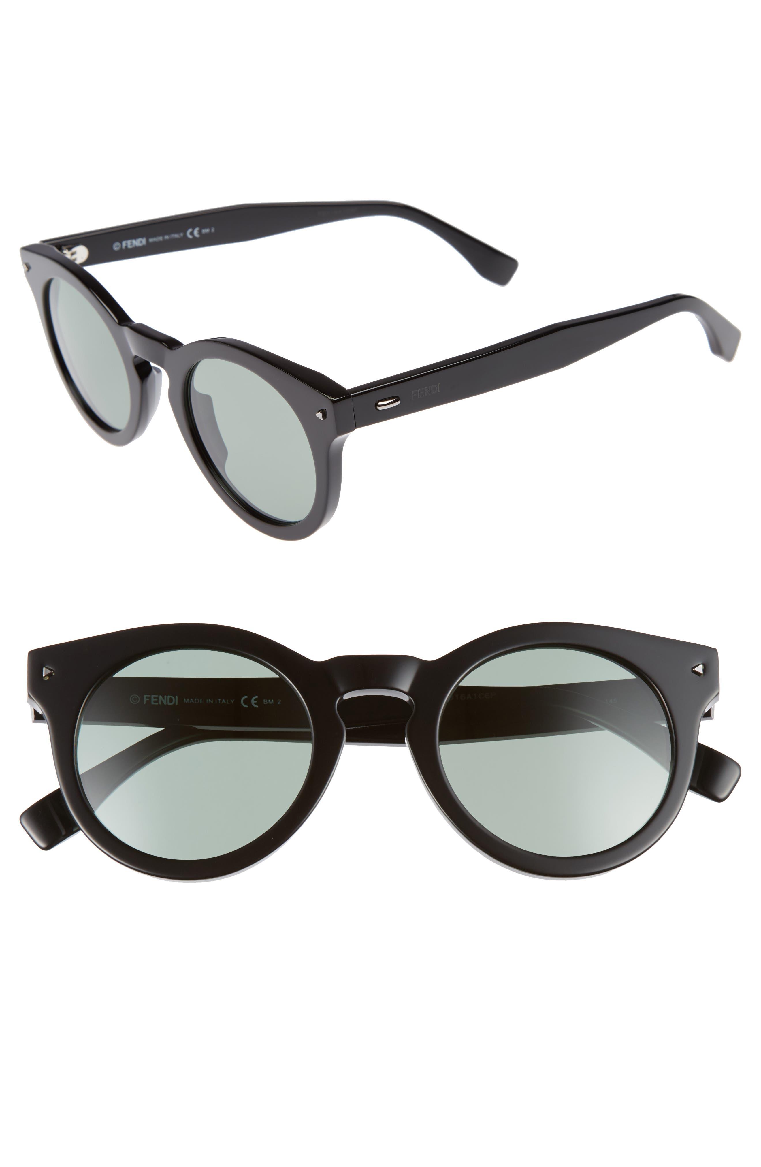 48mm Sunglasses,                         Main,                         color, Black