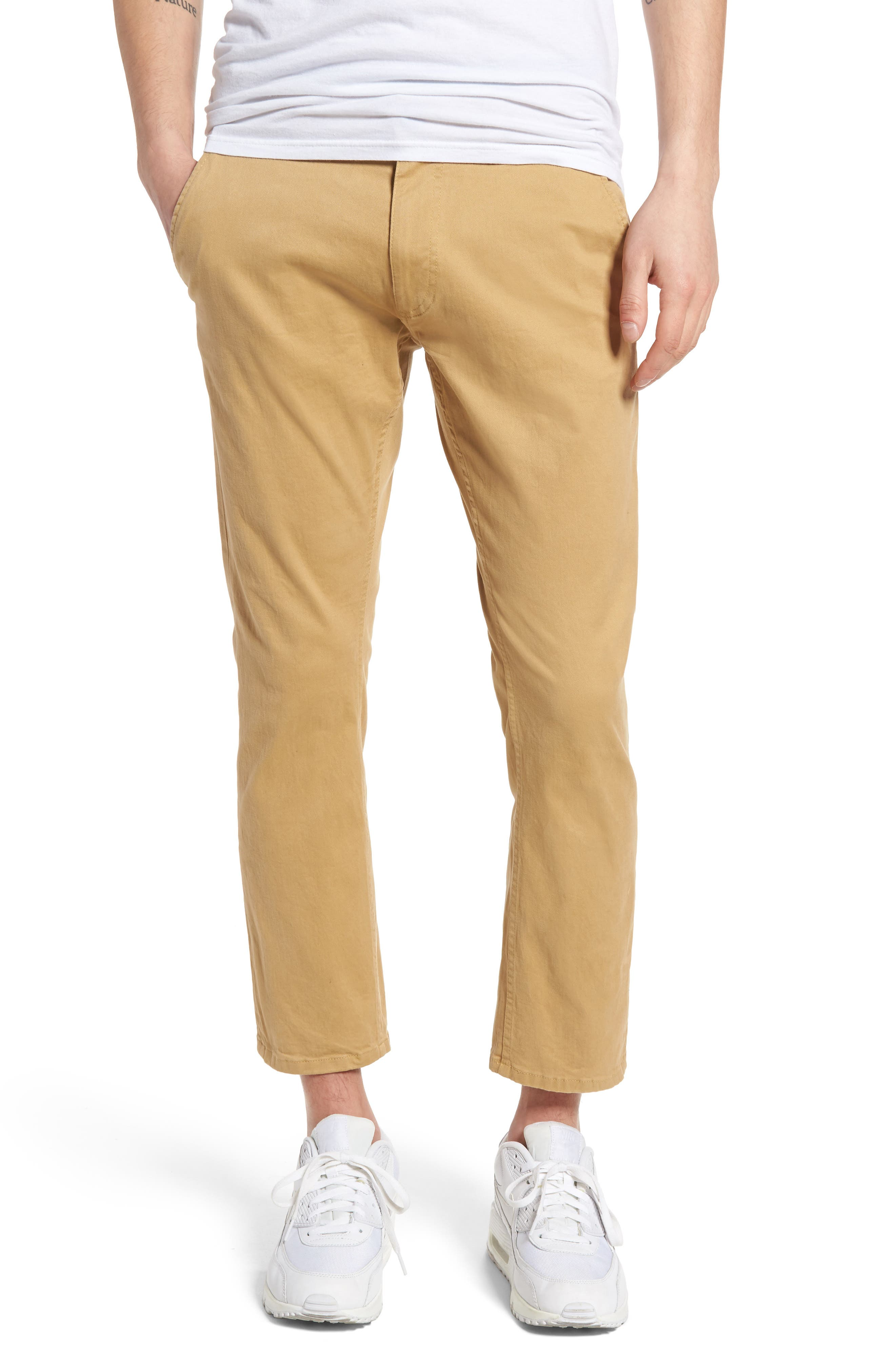 Federal Cropped Chinos,                         Main,                         color, Khaki