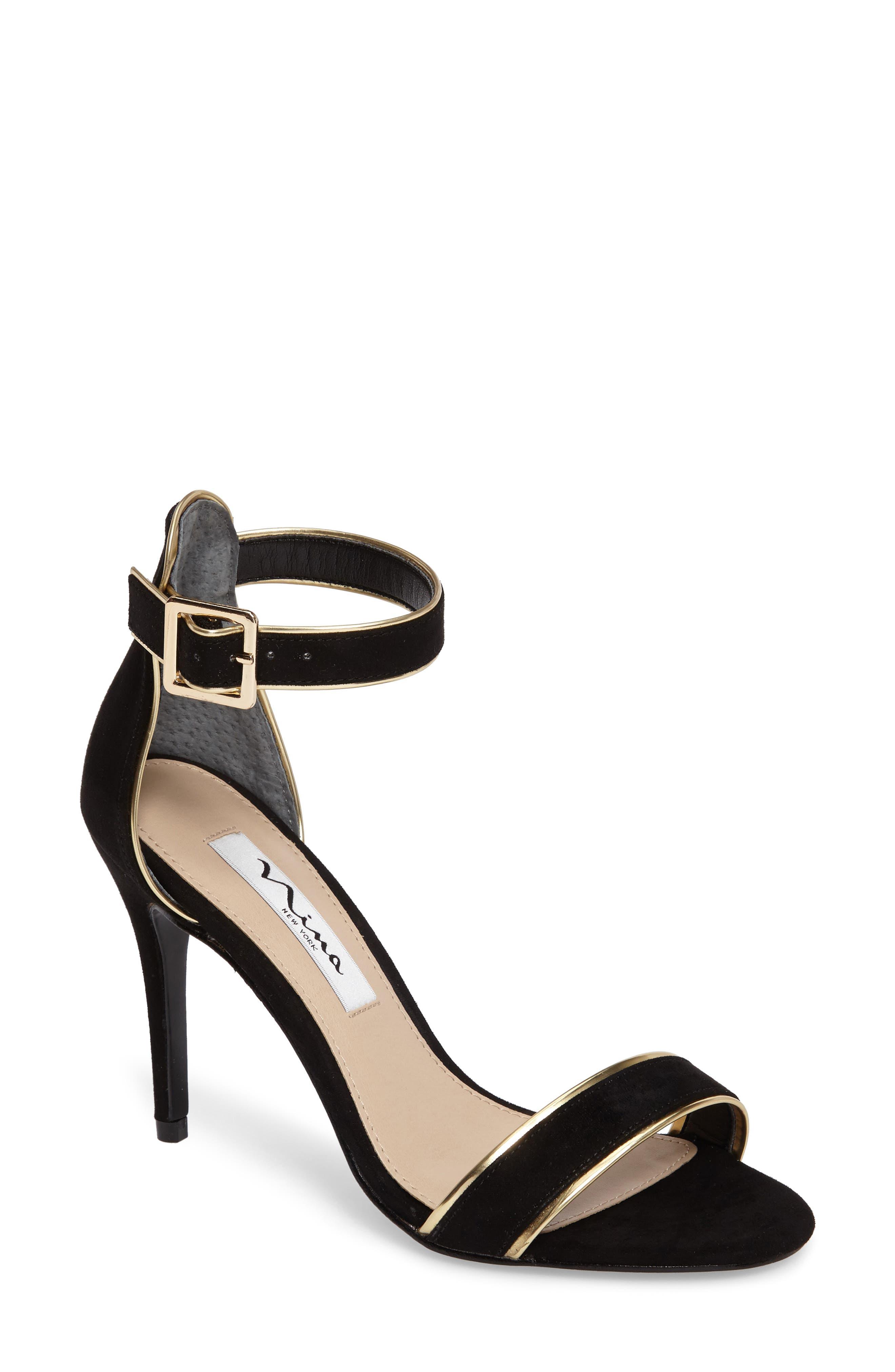 Nina Caela Ankle Strap Sandal (Women)