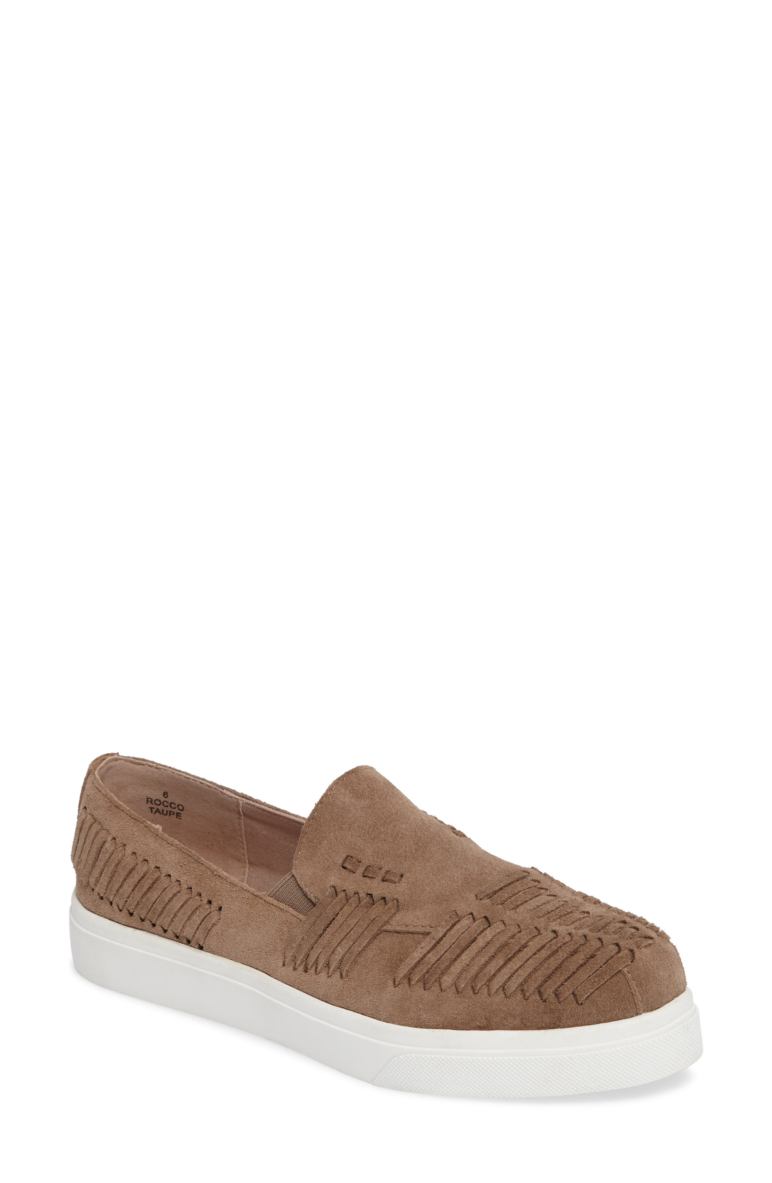 Rocco Woven Slip-On Sneaker,                             Main thumbnail 1, color,                             Taupe Suede