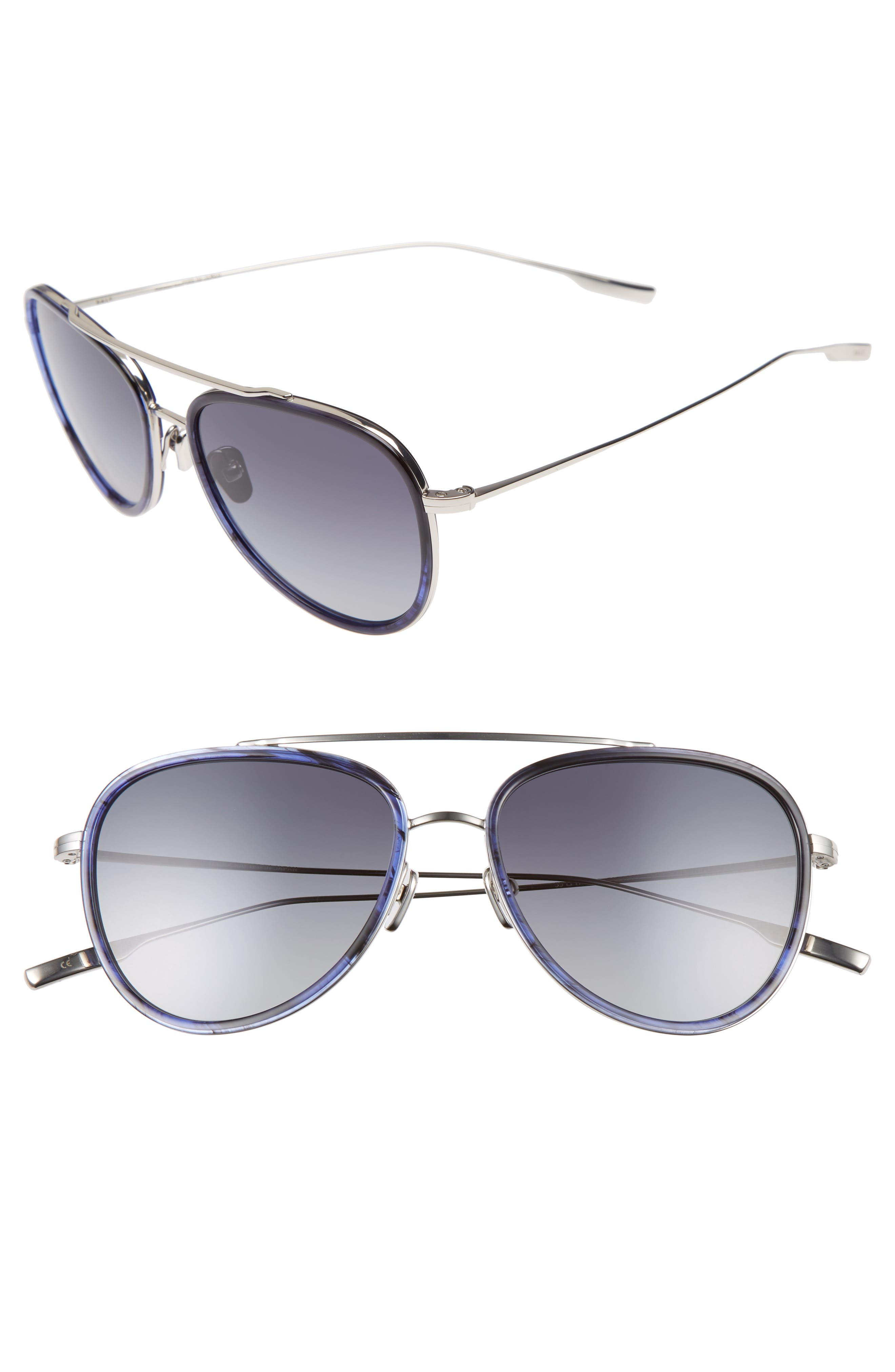 SALT Paragon 55mm Polarized Aviator Sunglasses