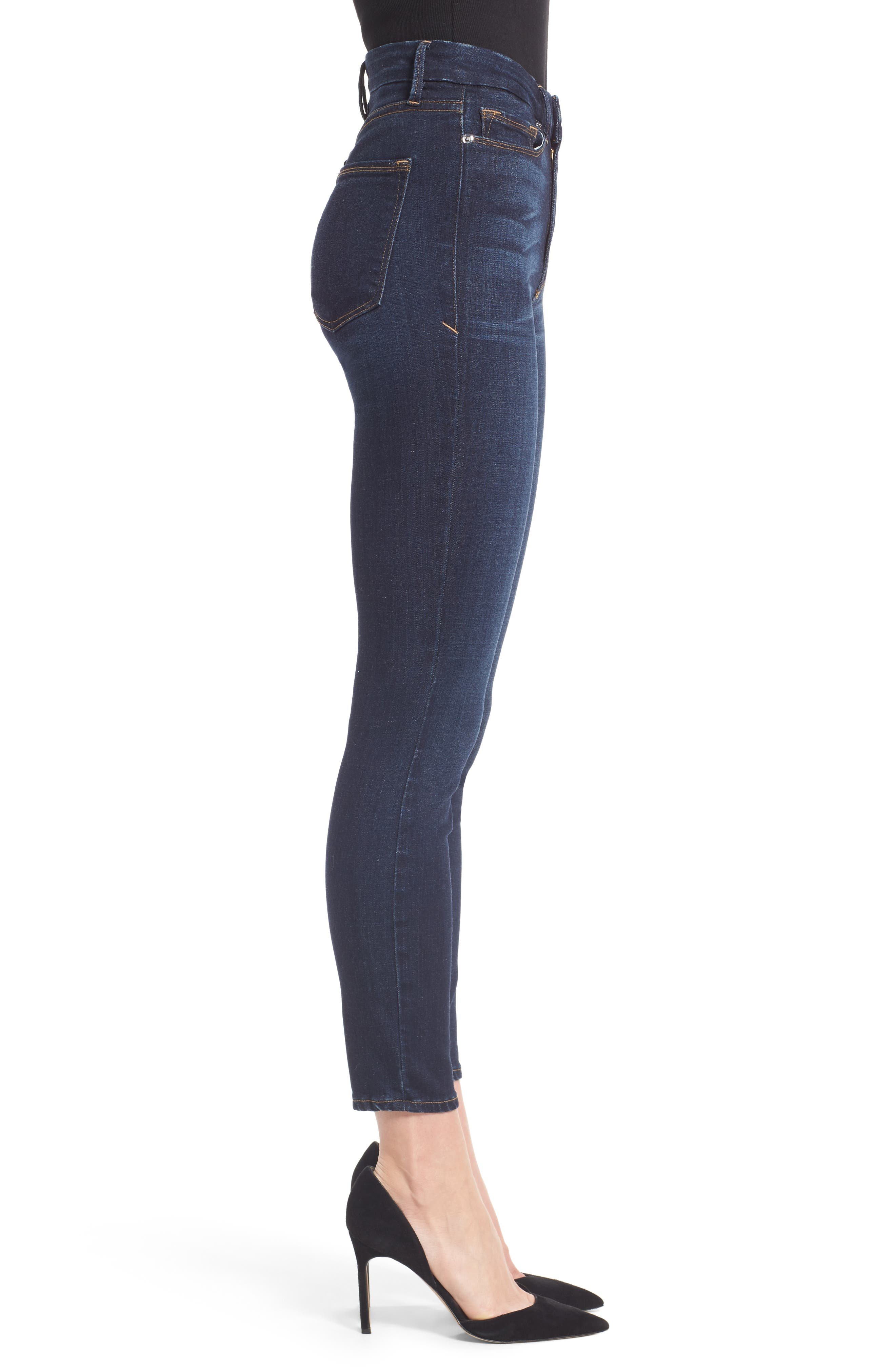 Alternate Image 3  - Good American Good Legs High Waist Ankle Skinny Jeans (Extended Sizes)