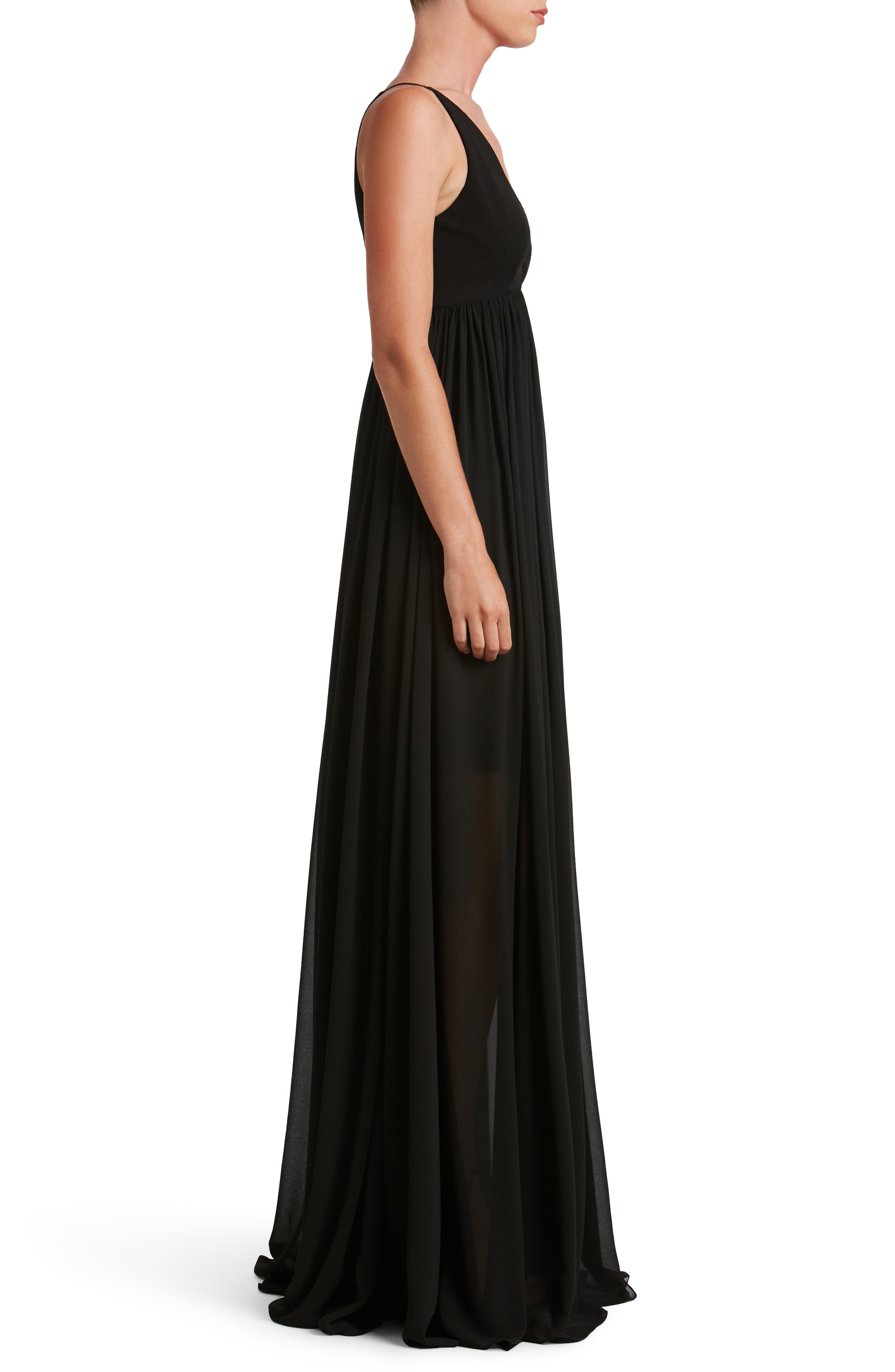 Alternate Image 3  - Dress the Population Phoebe Chiffon Gown